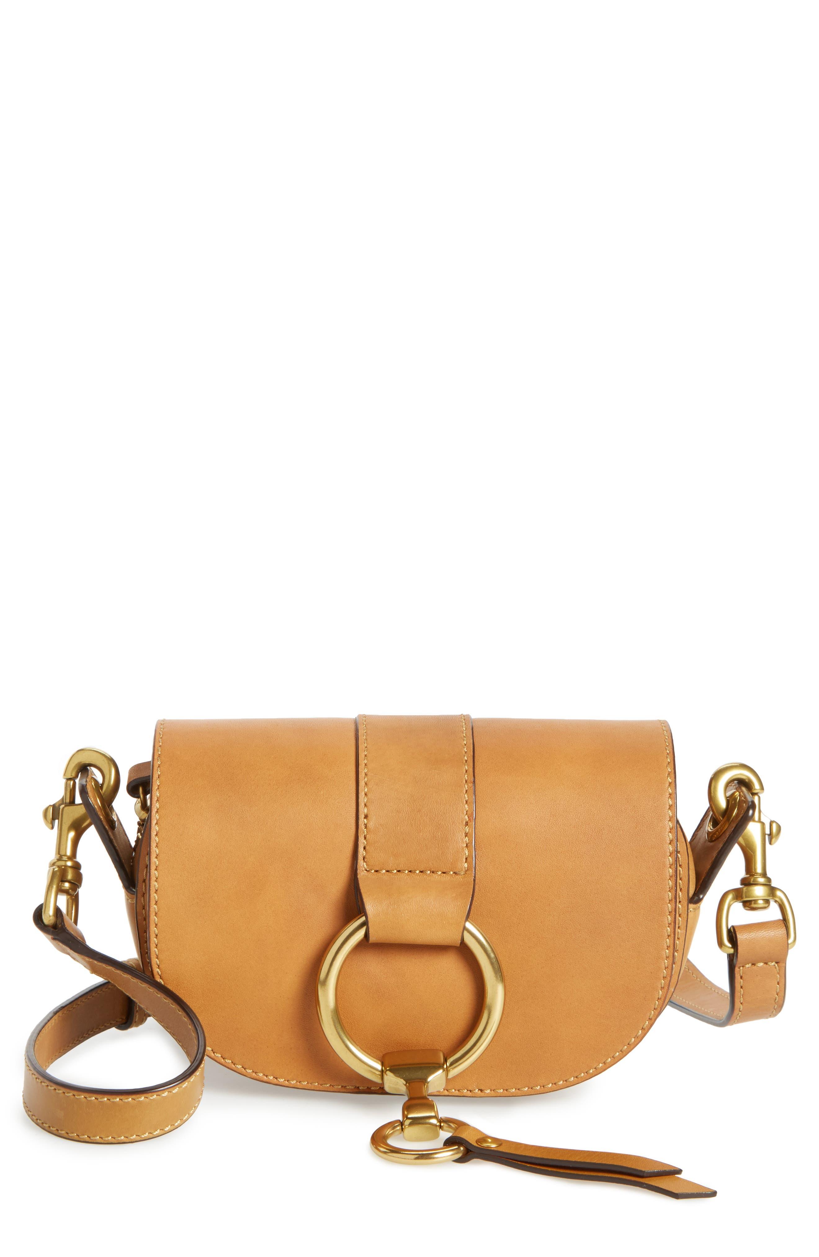 Mini Ilana Harness Leather Saddle Bag,                             Main thumbnail 2, color,