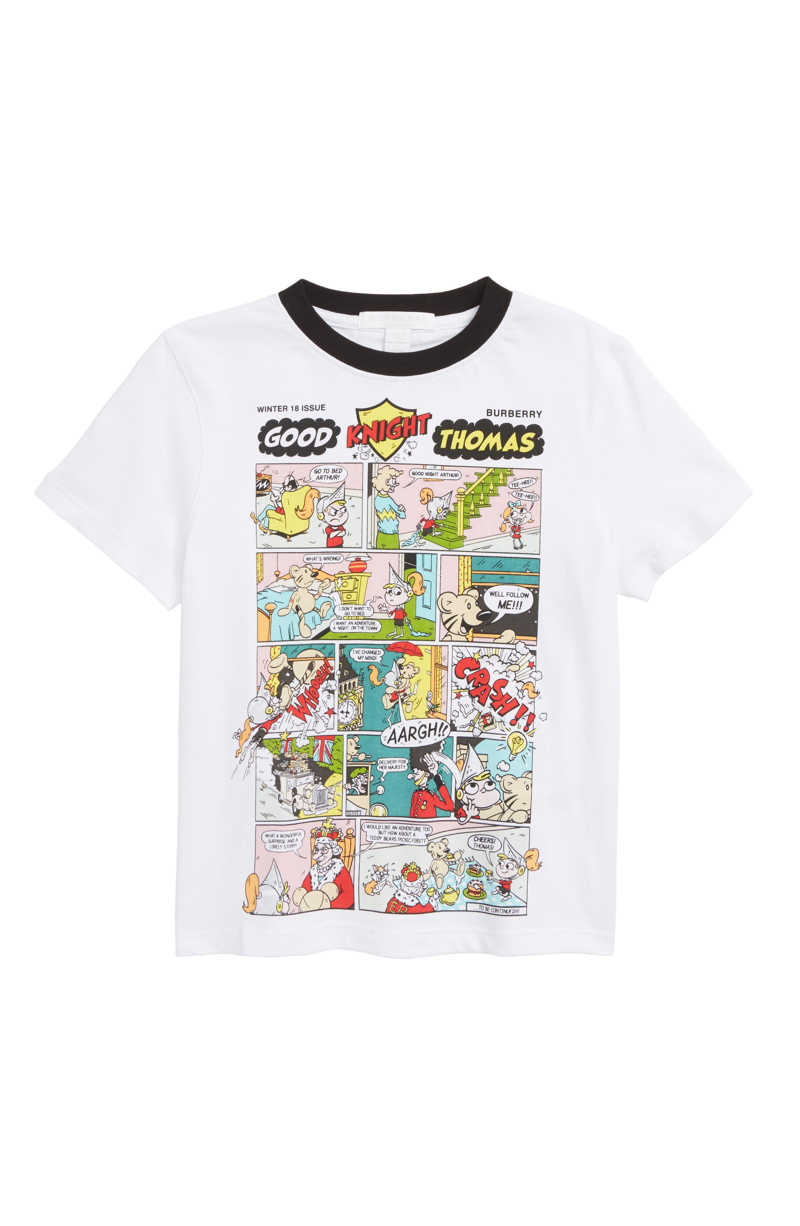 Comic Strip T-Shirt,                             Main thumbnail 1, color,                             100