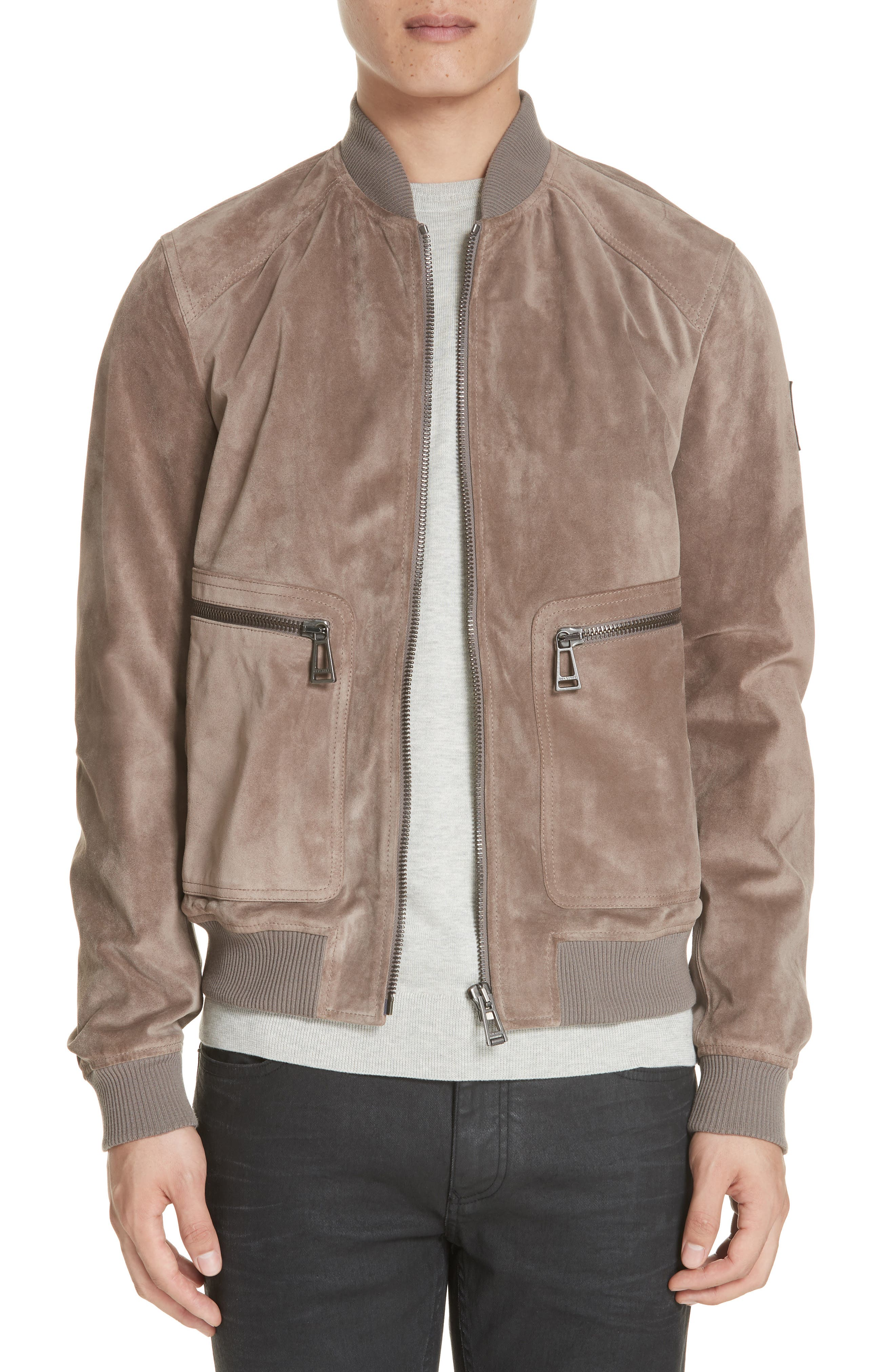 Winswell Suede Jacket, Main, color, DRIFTWOOD