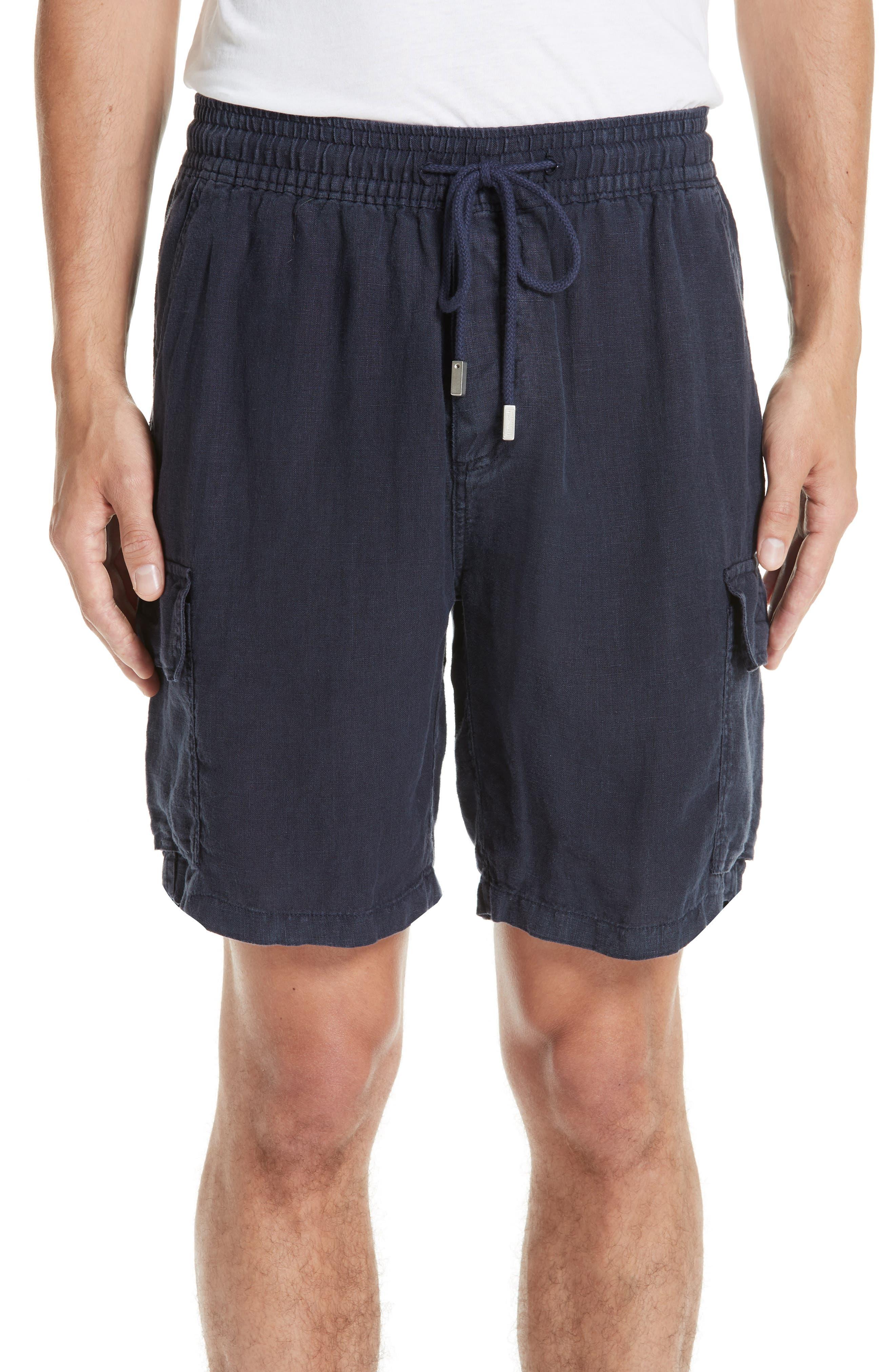 Vilbrequin Linen Cargo Shorts,                             Main thumbnail 1, color,                             BLUE