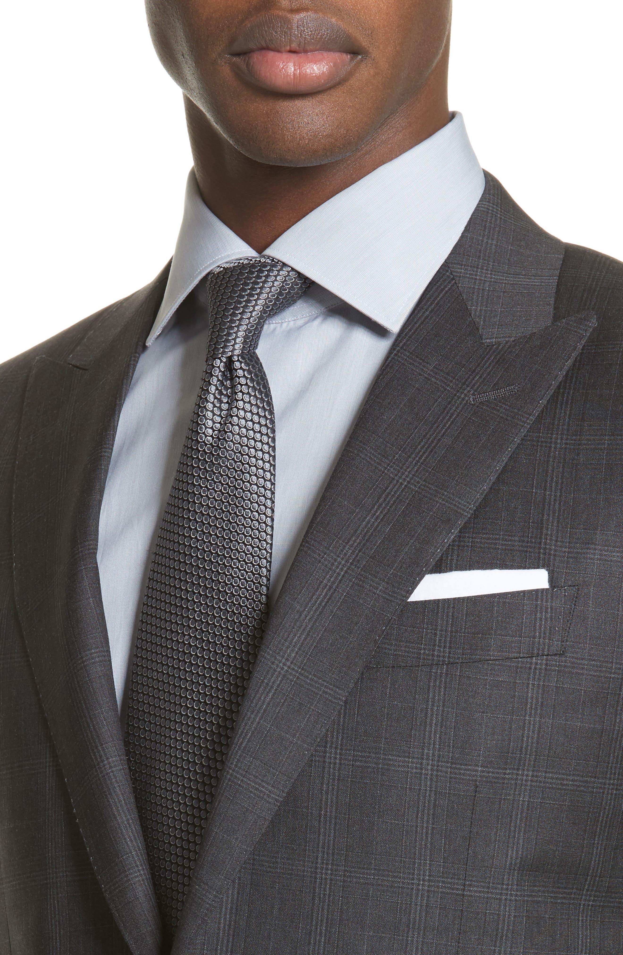 Classic Fit Plaid Wool Suit,                             Alternate thumbnail 4, color,                             023