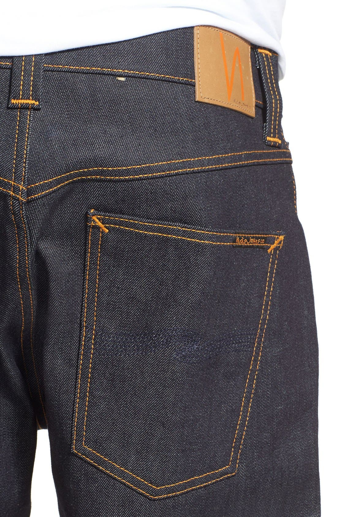 'Brute Knut' Slouchy Slim Fit Selvedge Jeans,                             Alternate thumbnail 4, color,                             411