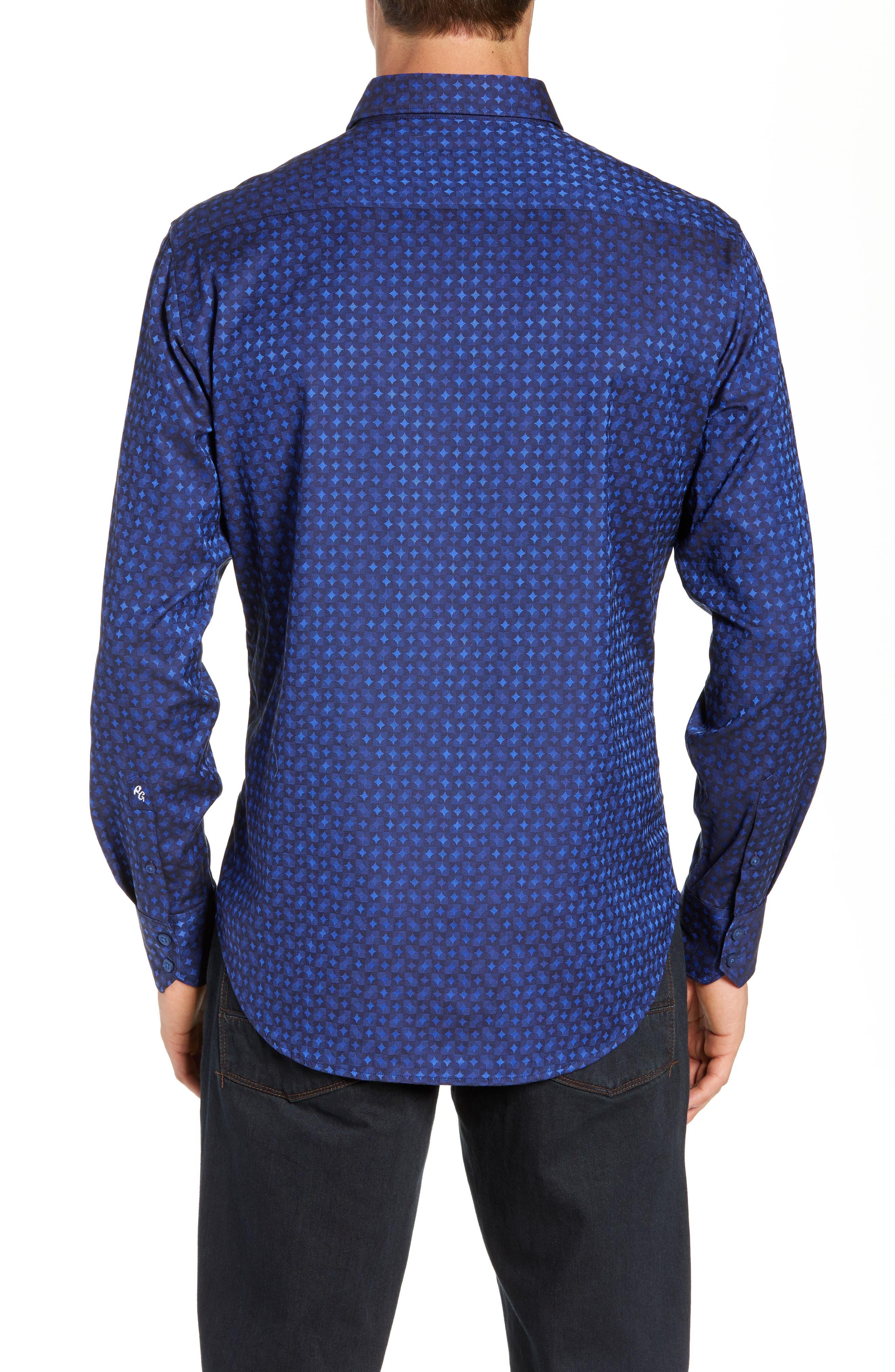 Harris Classic Fit Sport Shirt,                             Alternate thumbnail 3, color,                             BLUE