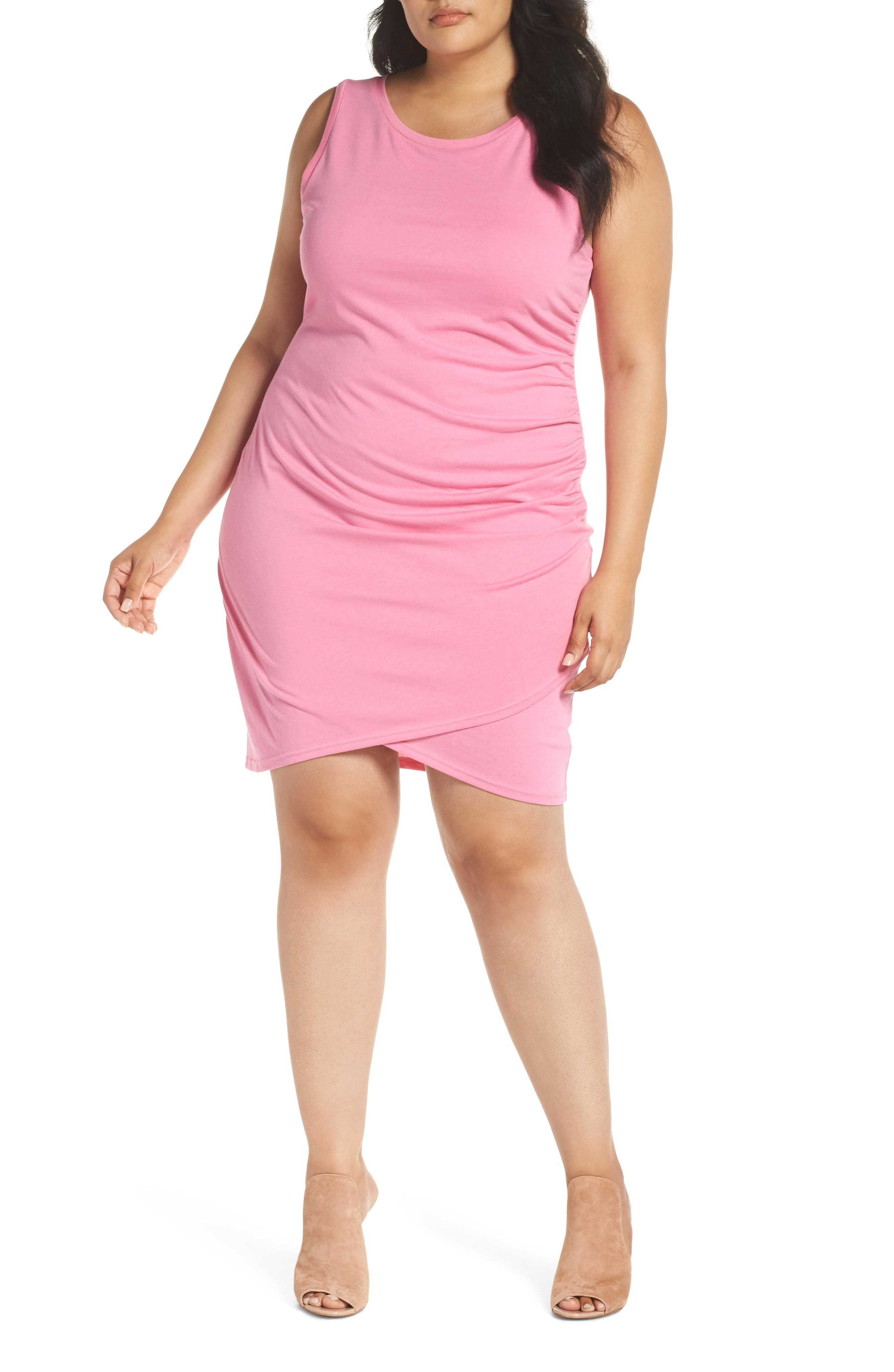Plus Size Leith Ruched Sheath Dress, Pink