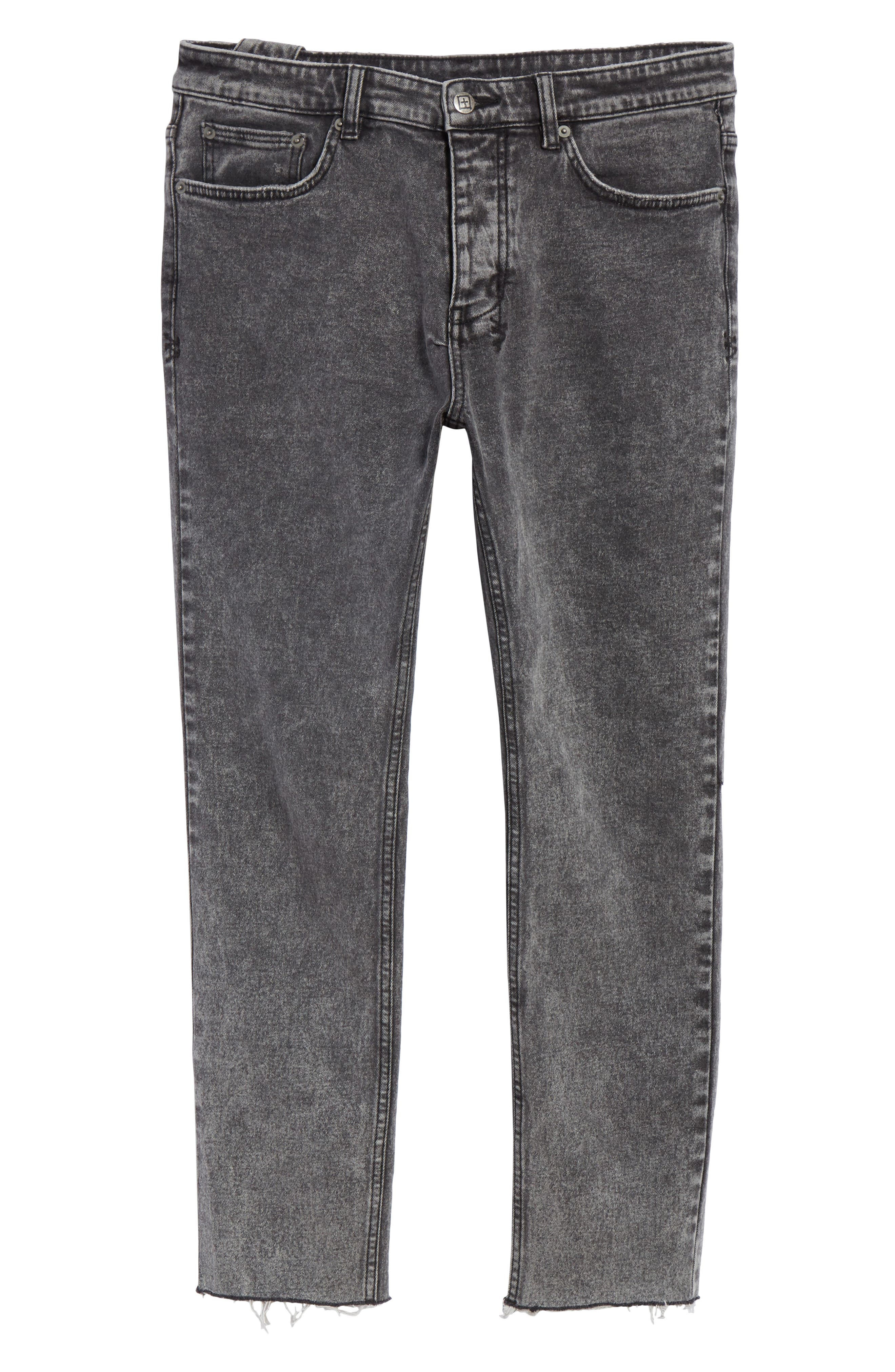 Chitch Chop Acid Attack Cropped Jeans,                             Alternate thumbnail 6, color,                             BLACK