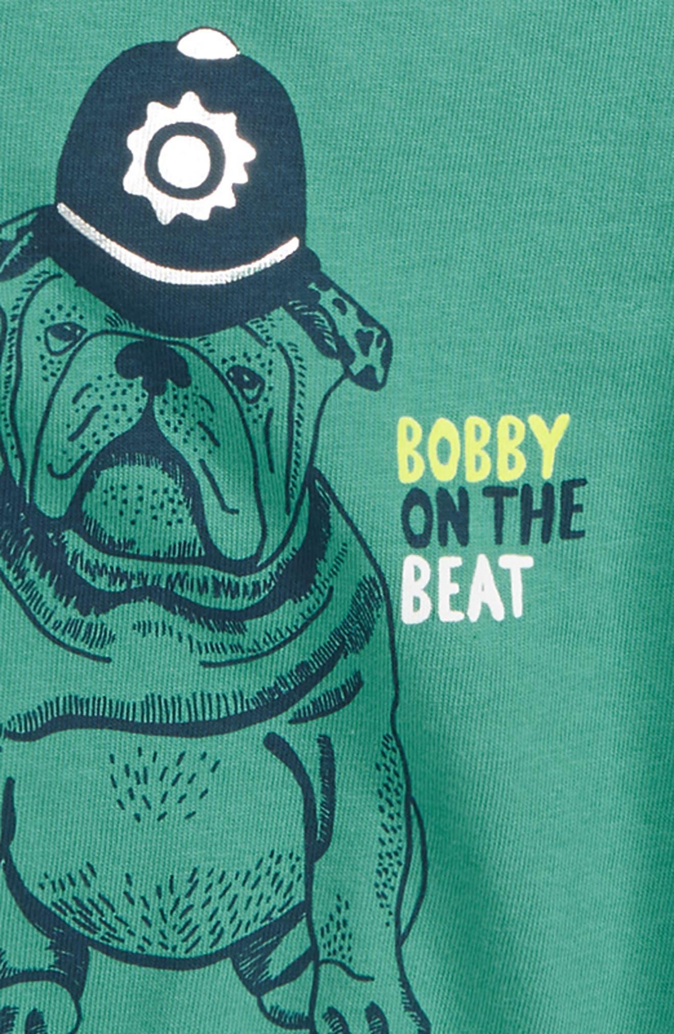 British Bulldog Layer T-Shirt,                             Alternate thumbnail 2, color,                             JUNGLE GREEN