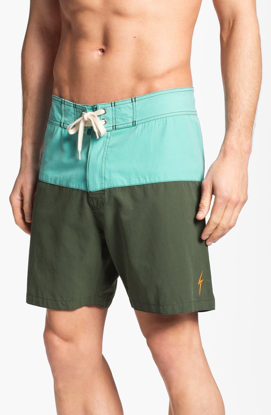 LIGHTNING BOLT,                             'Surfari' Board Shorts,                             Main thumbnail 1, color,                             440