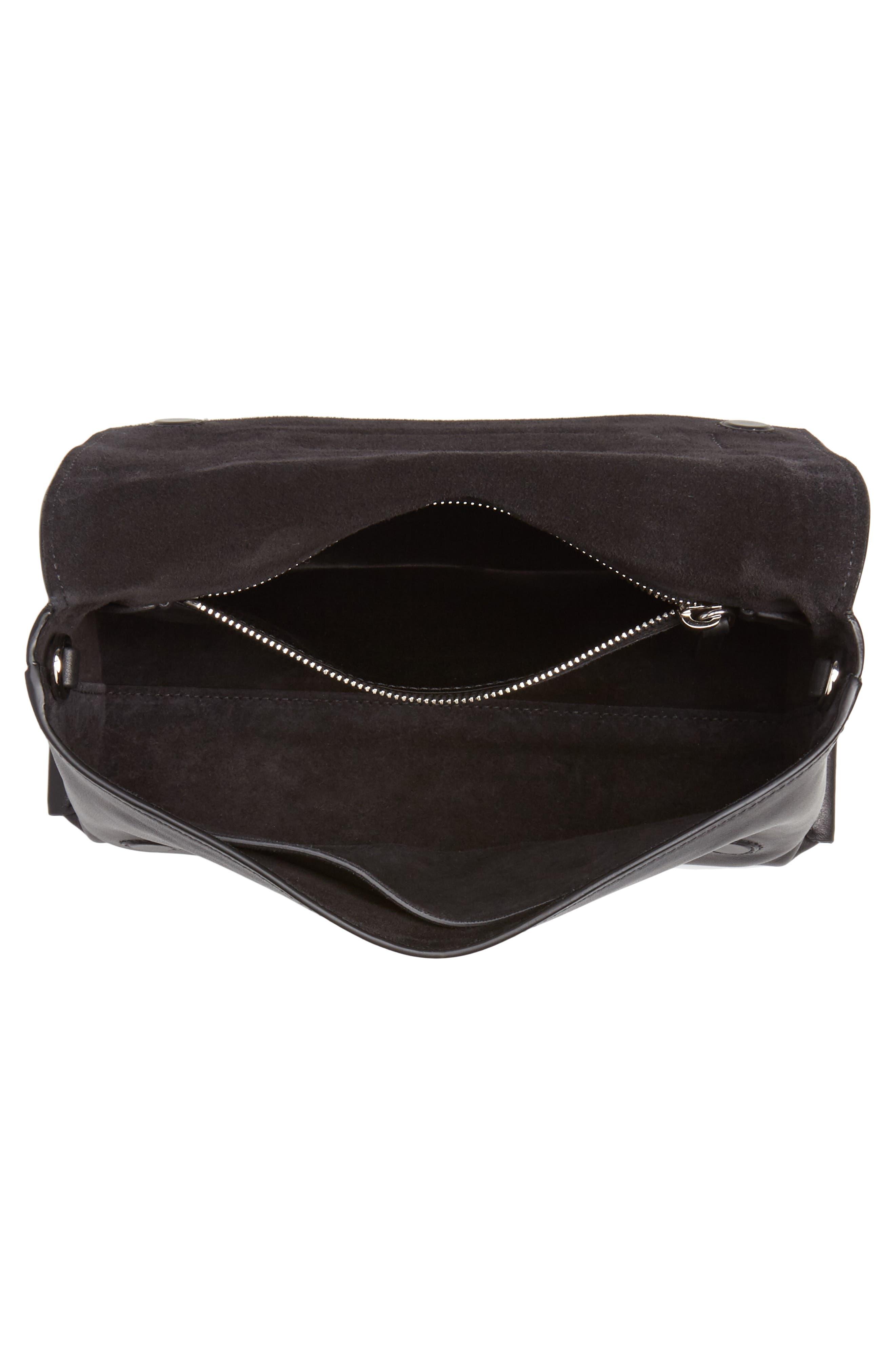 Small Grace Calfskin Shoulder Bag,                             Alternate thumbnail 4, color,                             NERO/ BIANCO