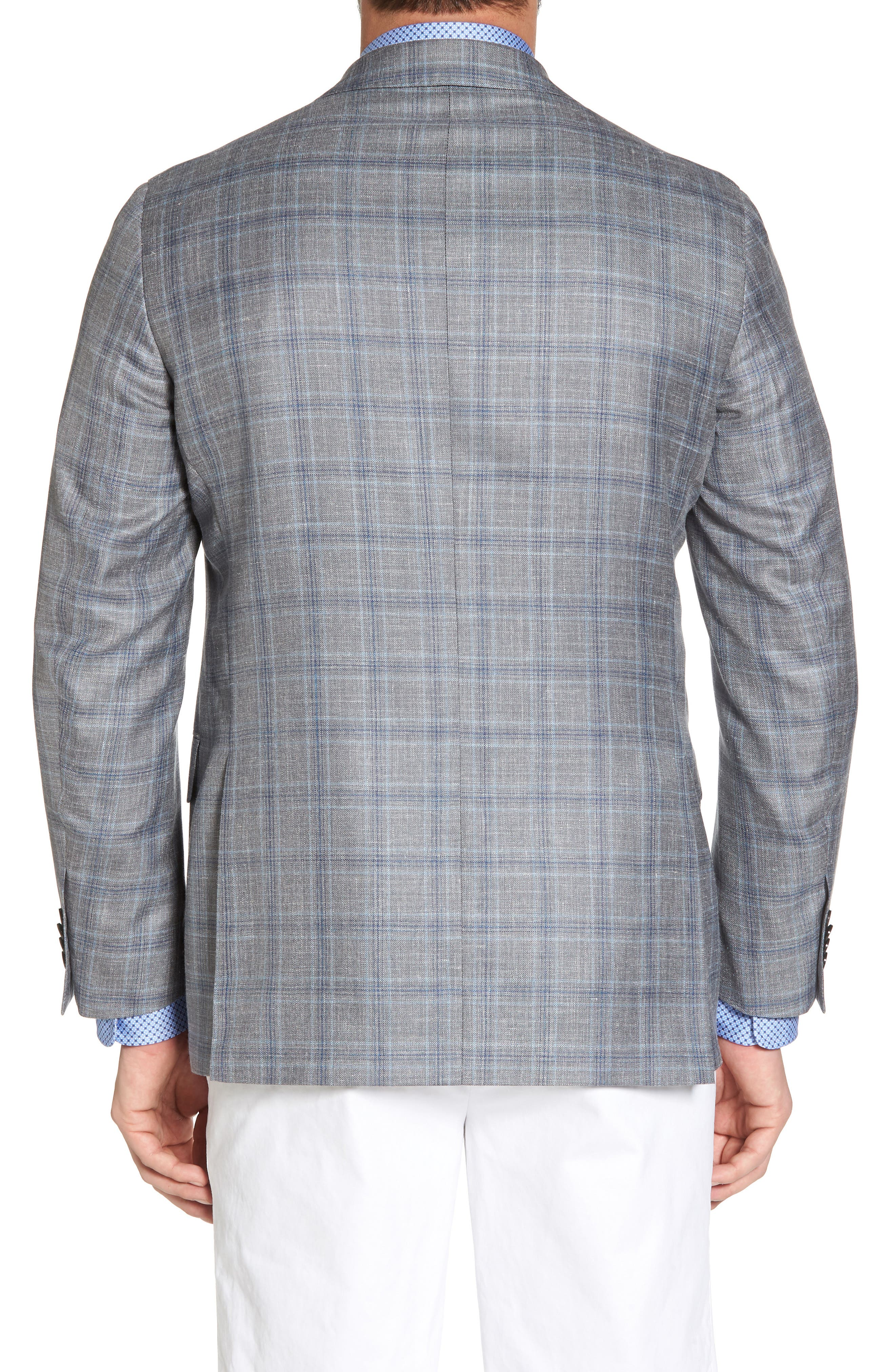 Arnold Classic Fit Plaid Wool Blend Sport Coat,                             Alternate thumbnail 2, color,                             020