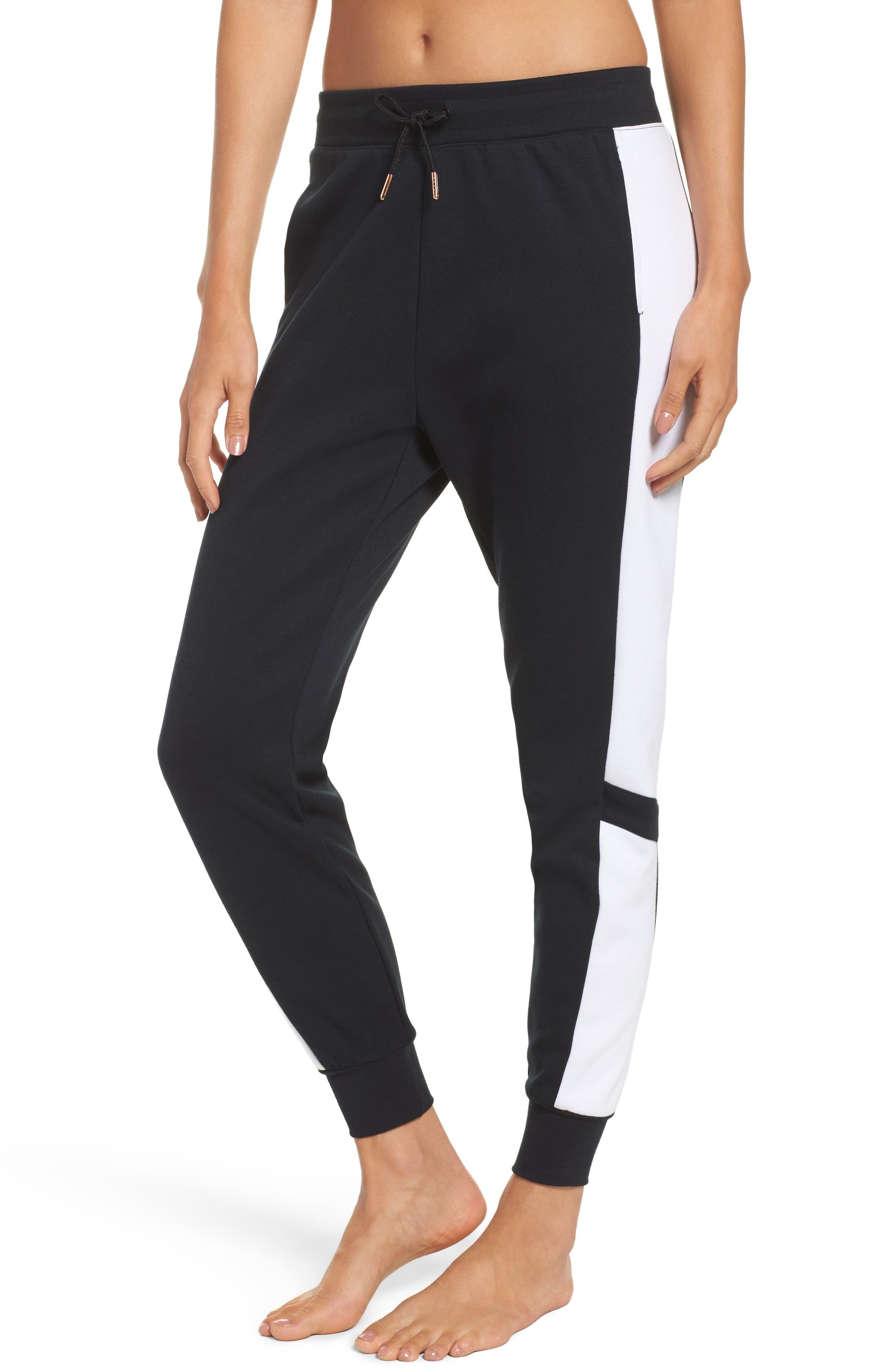 Colorblock Sweatpants,                             Main thumbnail 1, color,                             BLACK