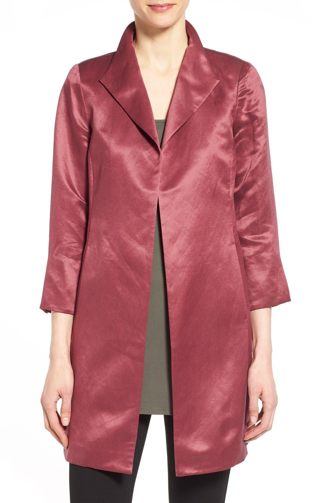 High Collar Long Jacket,                             Main thumbnail 6, color,