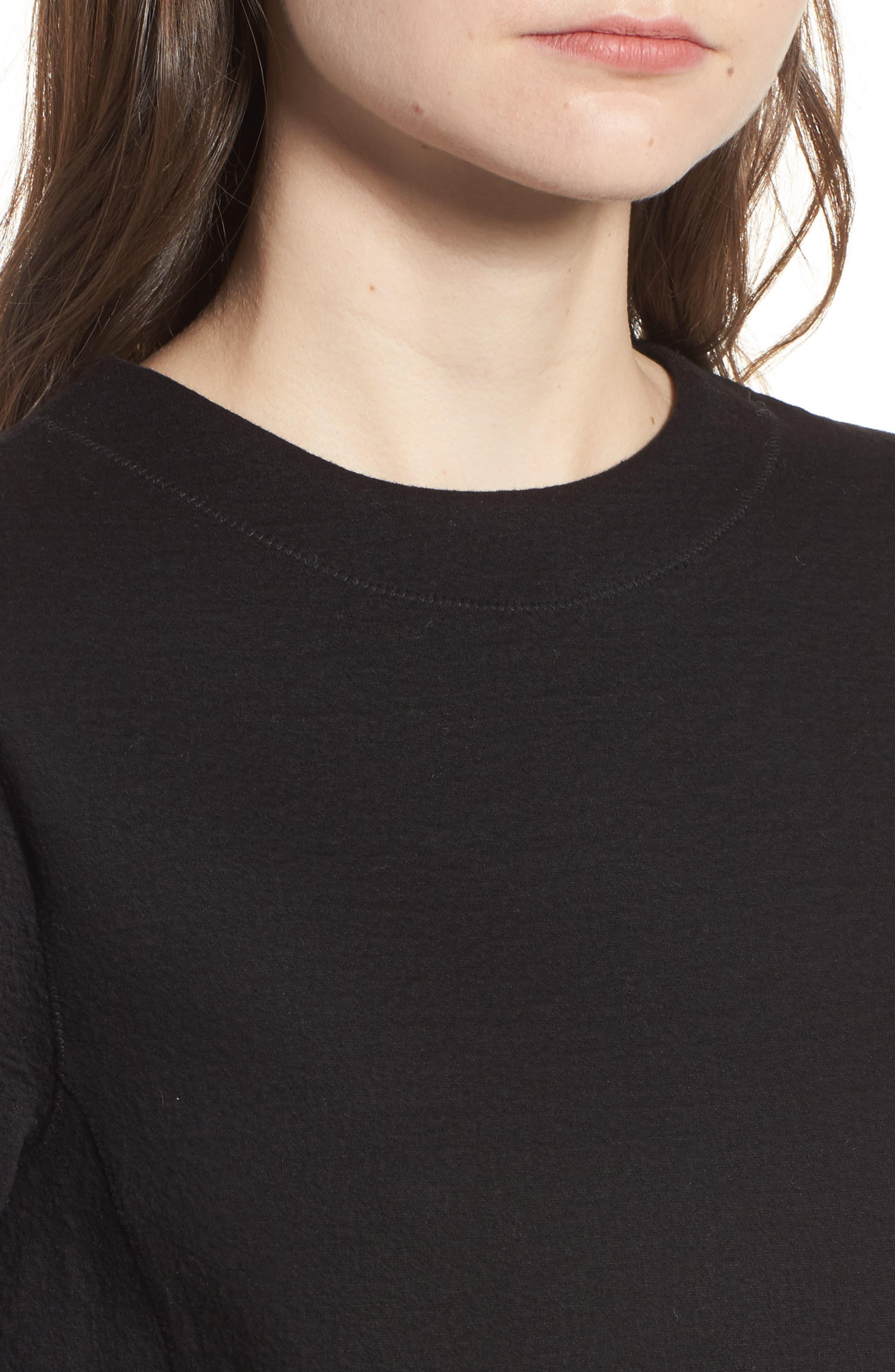 Scuba T-Shirt Dress,                             Alternate thumbnail 7, color,