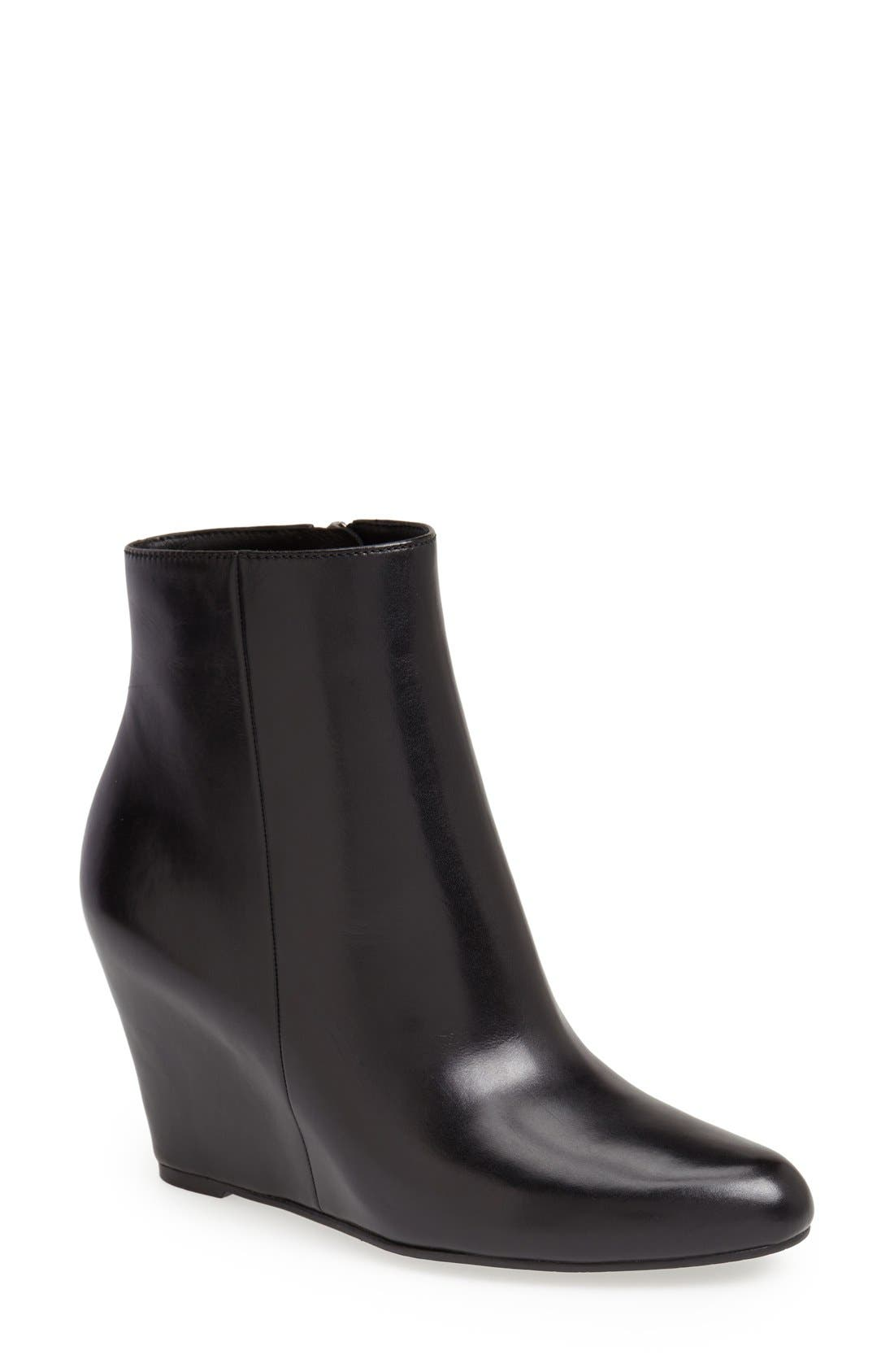 'Abri' Wedge Bootie, Main, color, 001