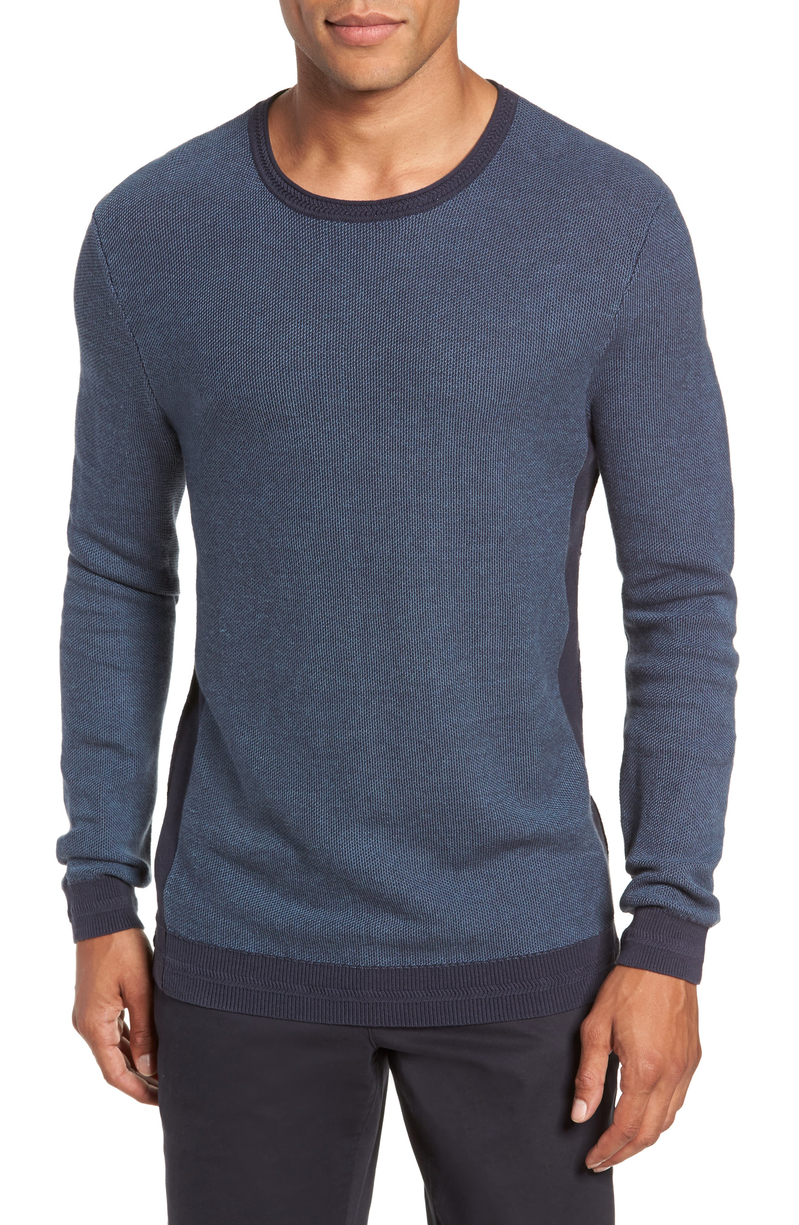 Vince Camuto Space Dye Slim Fit Sweater, Blue