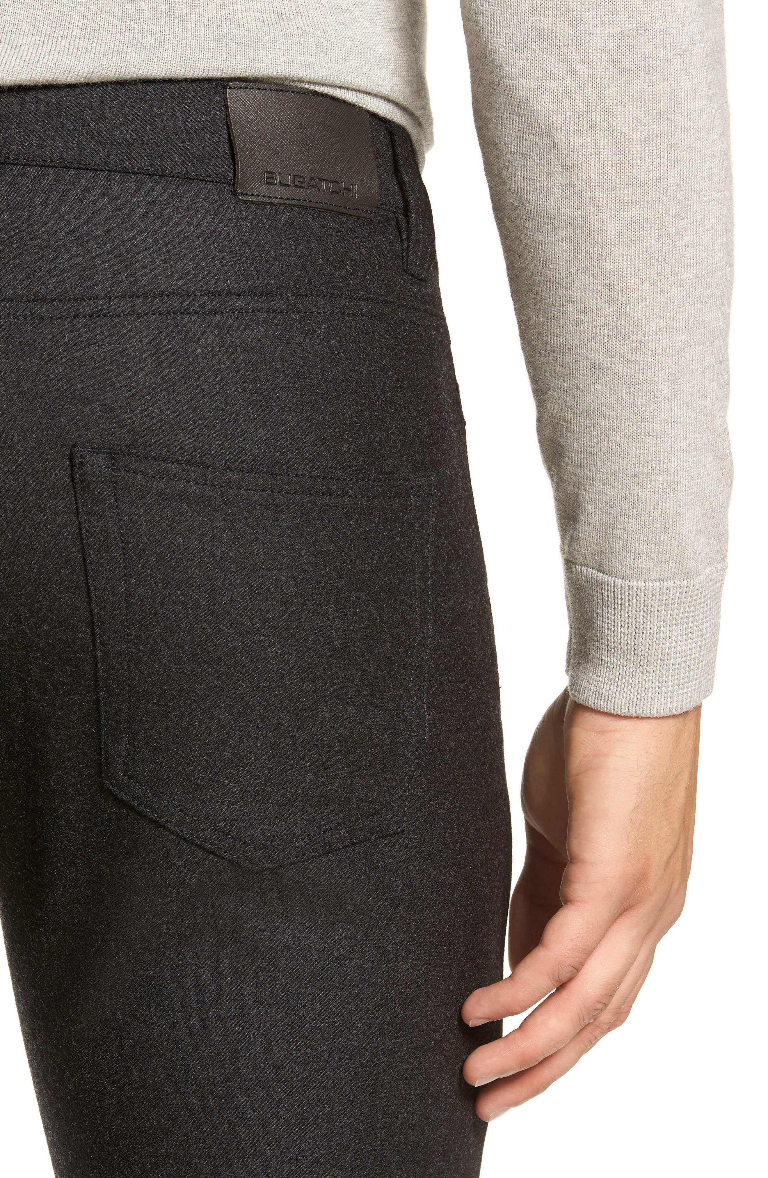 Slim Fit Wool Blend Pants,                             Alternate thumbnail 4, color,                             CHARCOAL