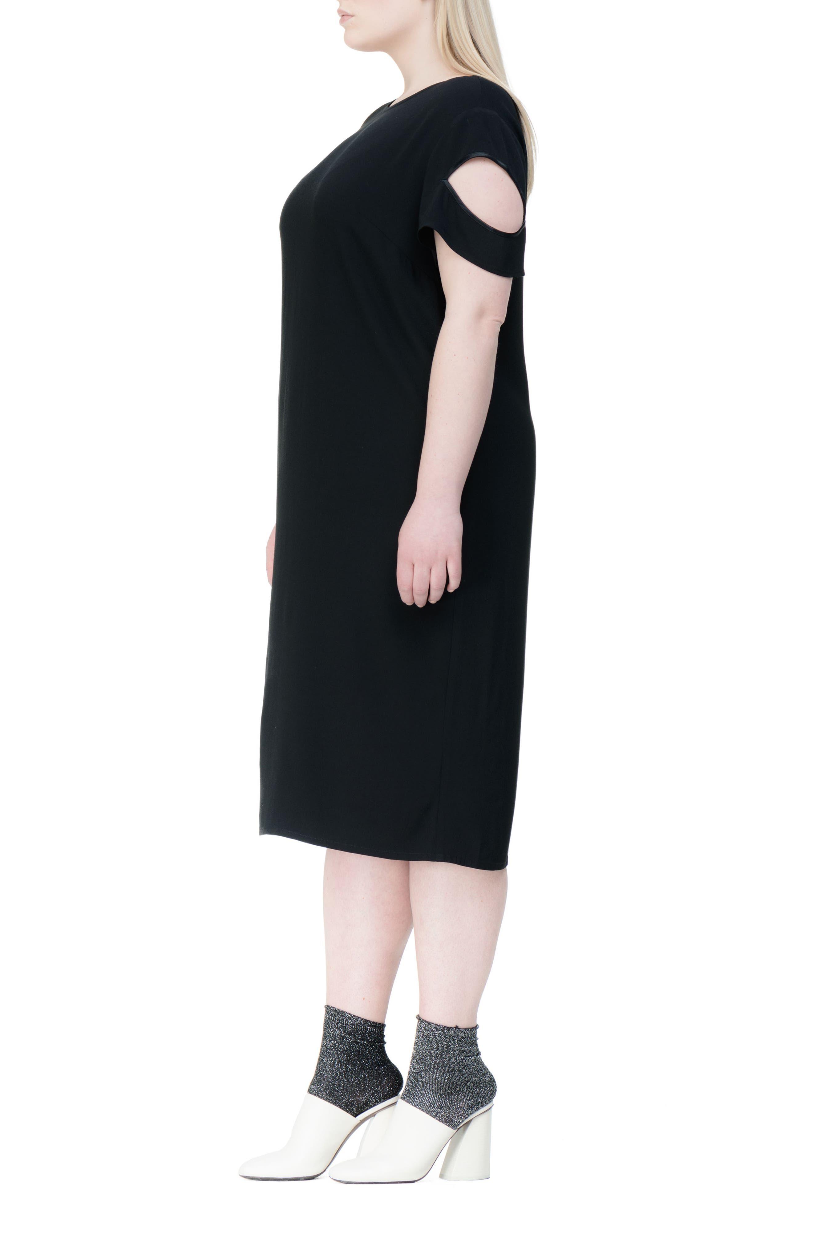 Newland Shift Dress,                             Alternate thumbnail 3, color,                             001