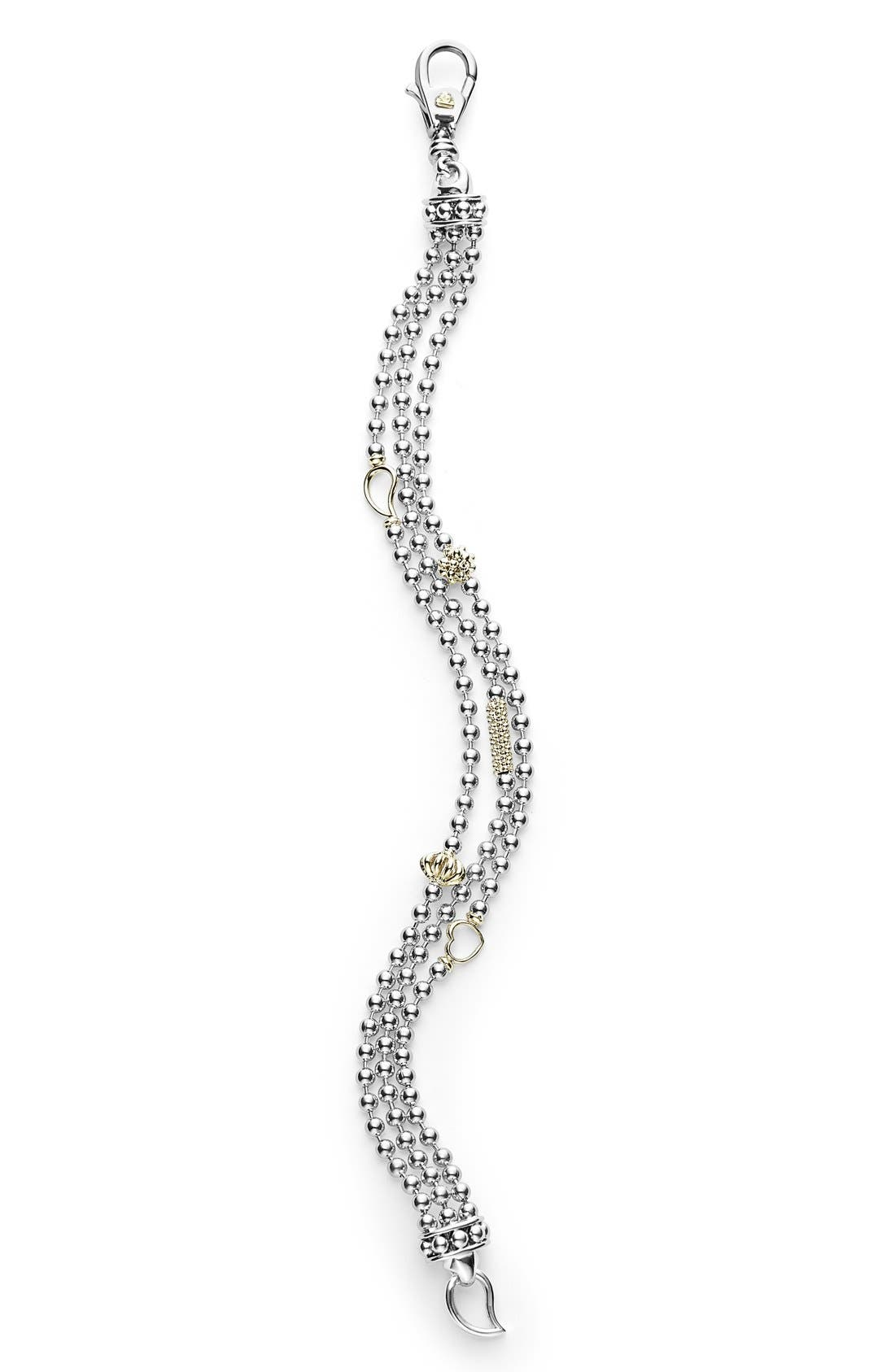 'Caviar Icon' Multistrand Bracelet,                             Alternate thumbnail 4, color,                             040