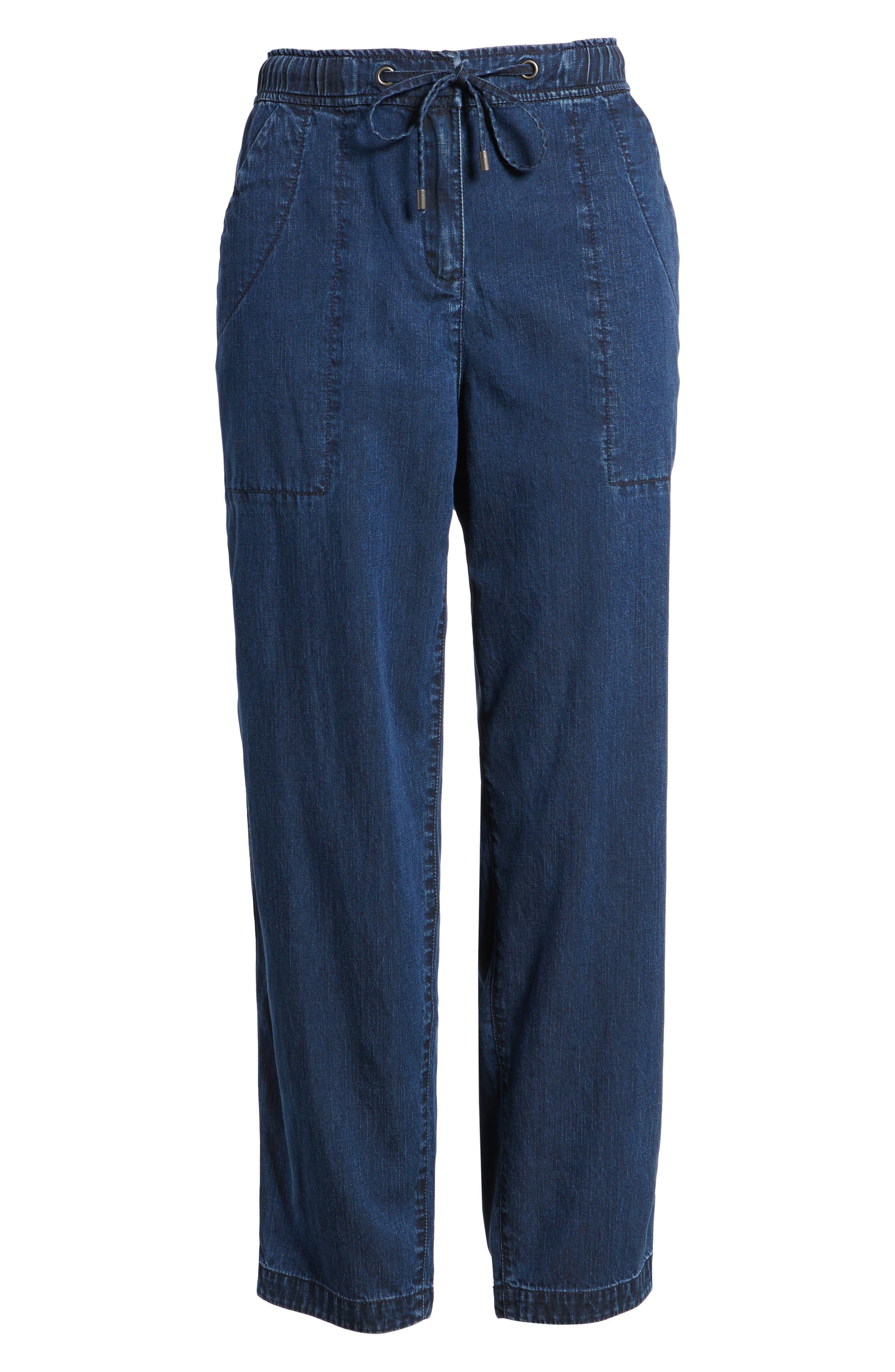 Slouchy Ankle Denim Pants,                             Alternate thumbnail 7, color,                             419
