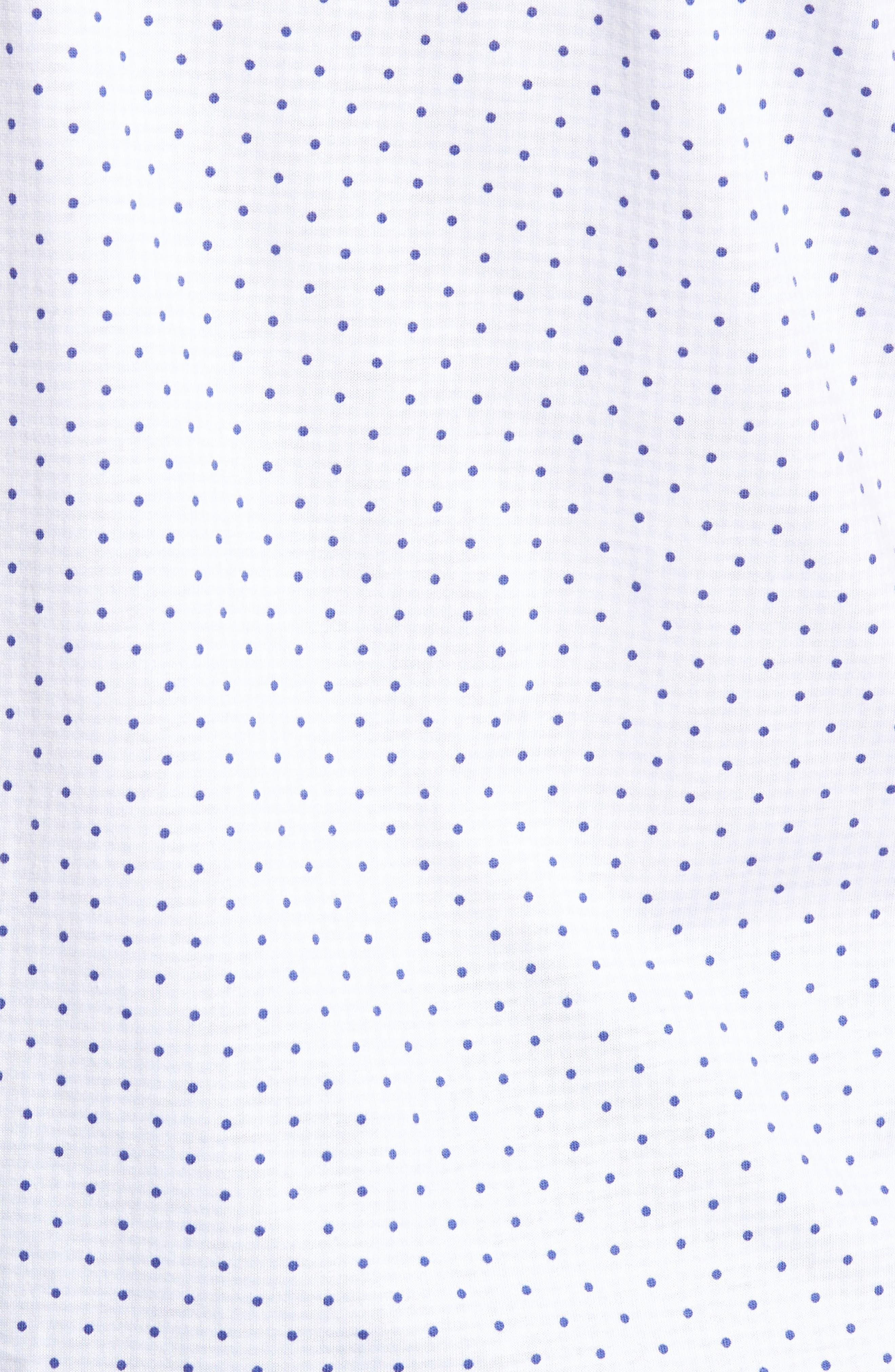 Trim Fit Polka Dot Check Sport Shirt,                             Alternate thumbnail 5, color,                             020