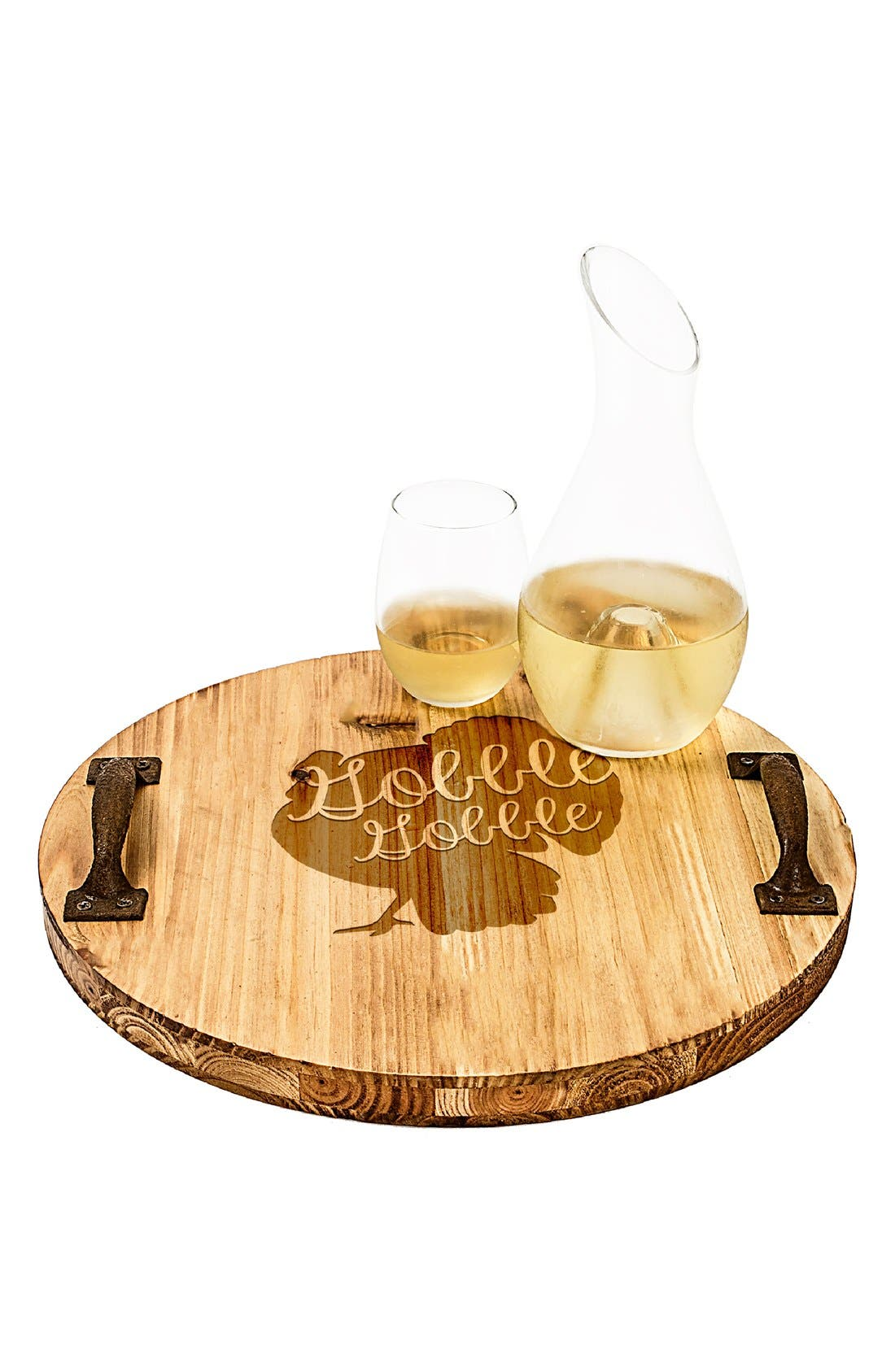 'Turkey' Rustic Wooden Tray,                             Main thumbnail 1, color,