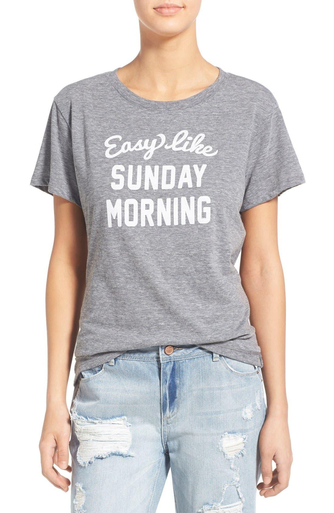 'Sunday Morning' Tee,                         Main,                         color, 050