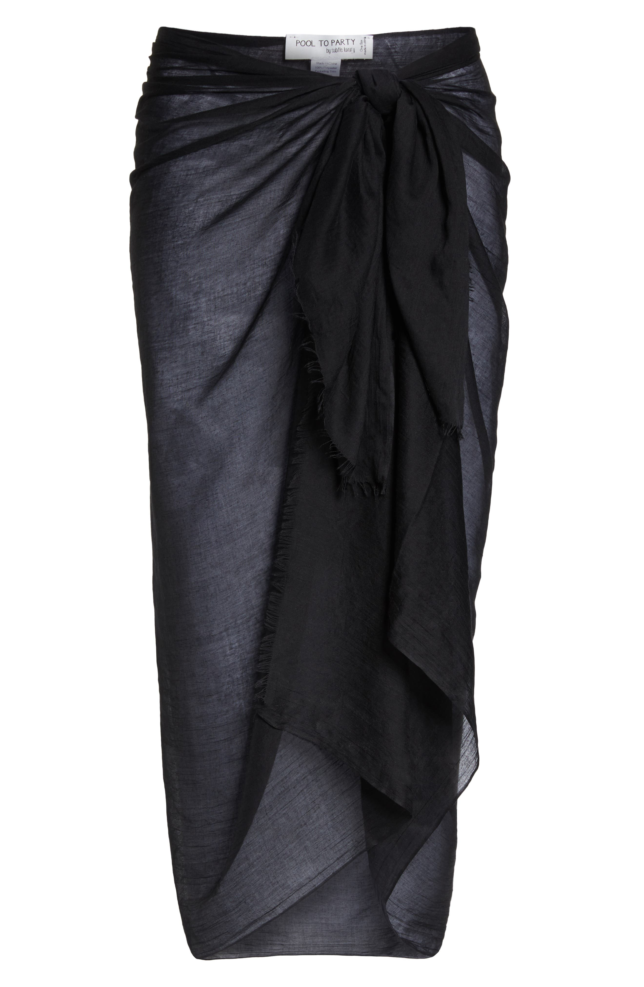 POOL TO PARTY,                             Sarong Cover-Up,                             Alternate thumbnail 8, color,                             001