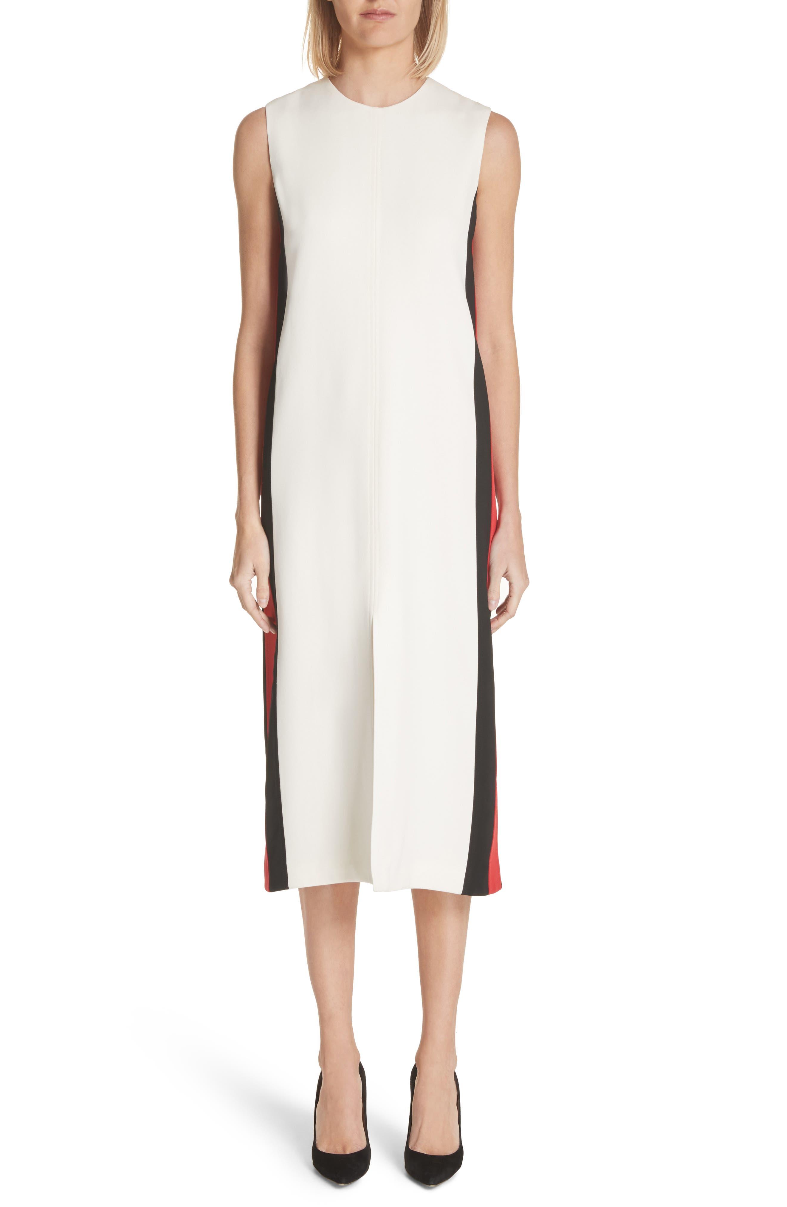 Burberry Selene Stripe Midi Dress