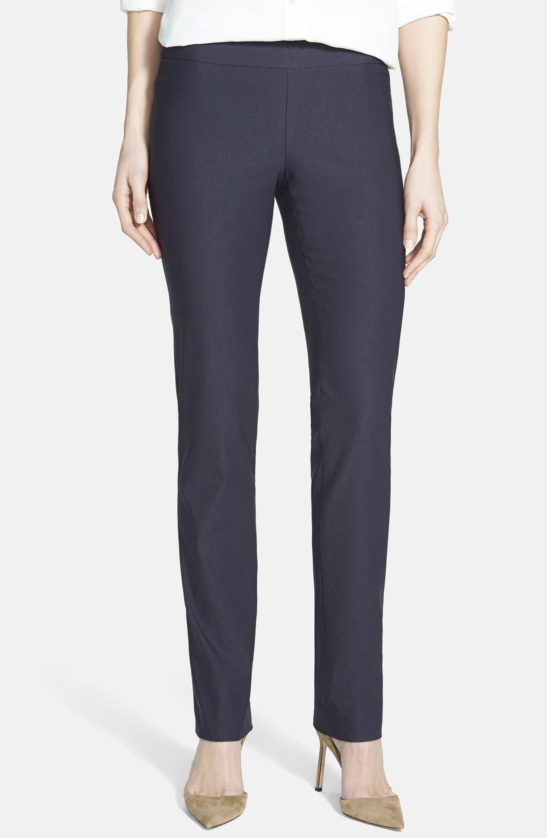 'The Wonder Stretch' Straight Leg Pants,                         Main,                         color, MIDNIGHT