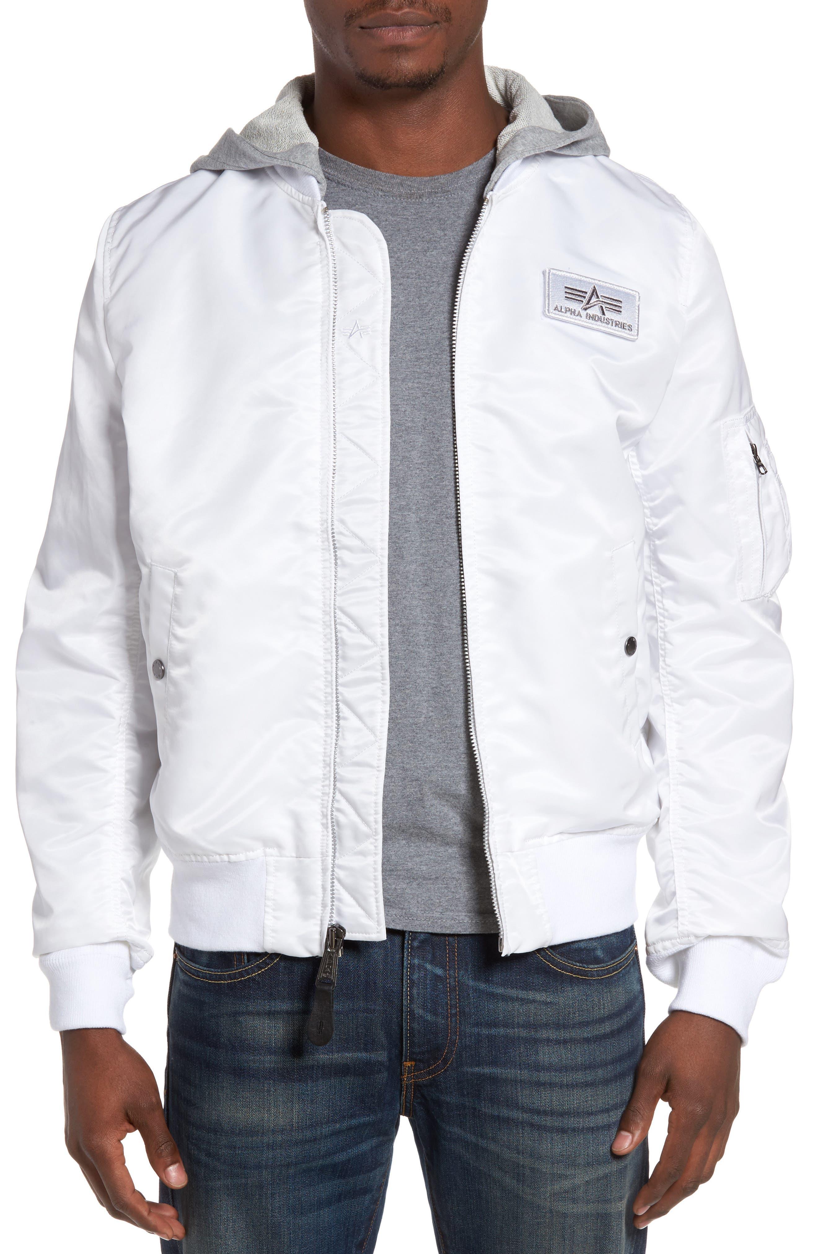 Lightweight L2-B Flight Jacket with Knit Hood,                             Main thumbnail 3, color,