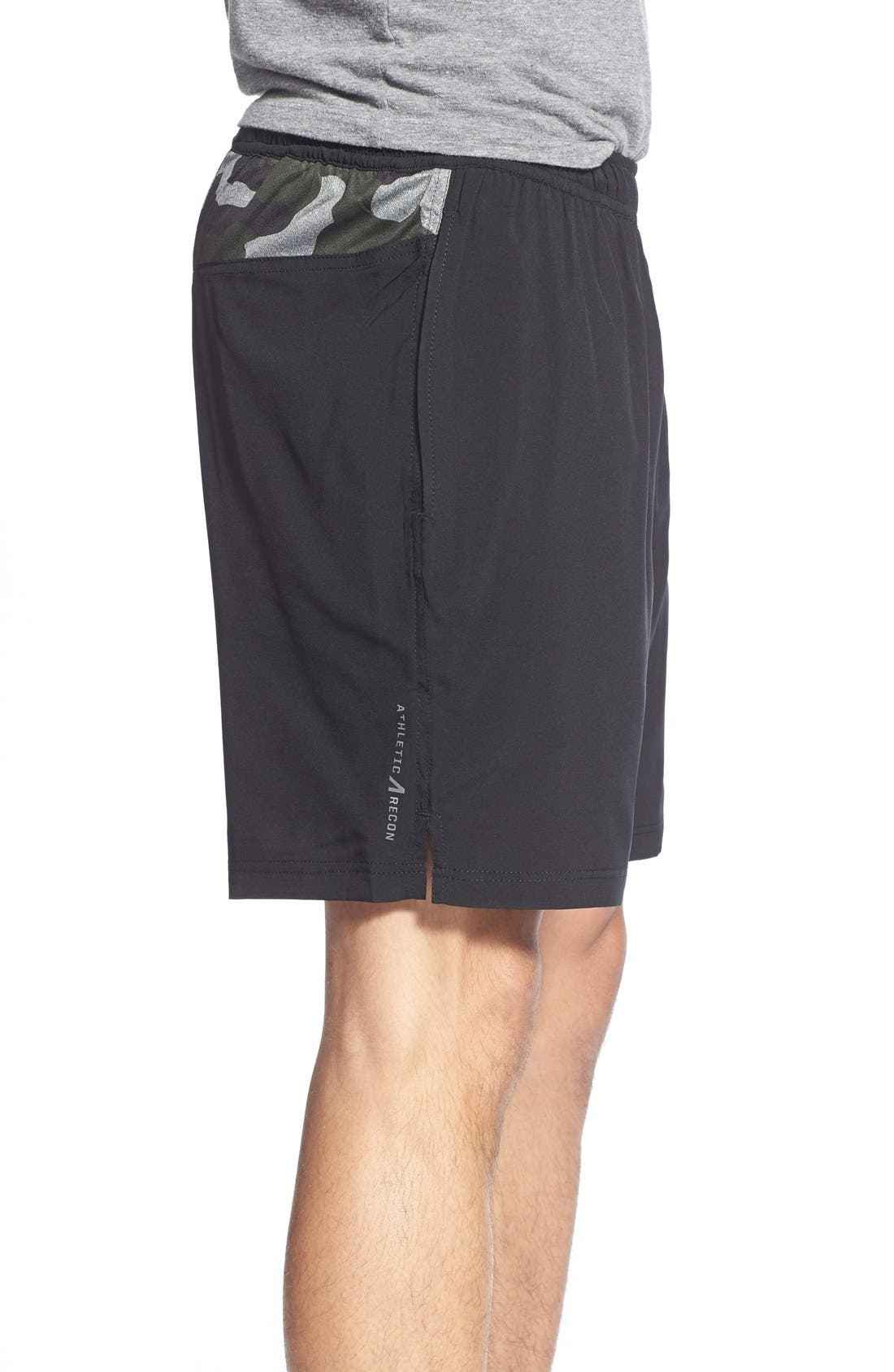 ATHLETIC RECON,                             '6.5' Stretch Woven Performance Shorts,                             Alternate thumbnail 3, color,                             001