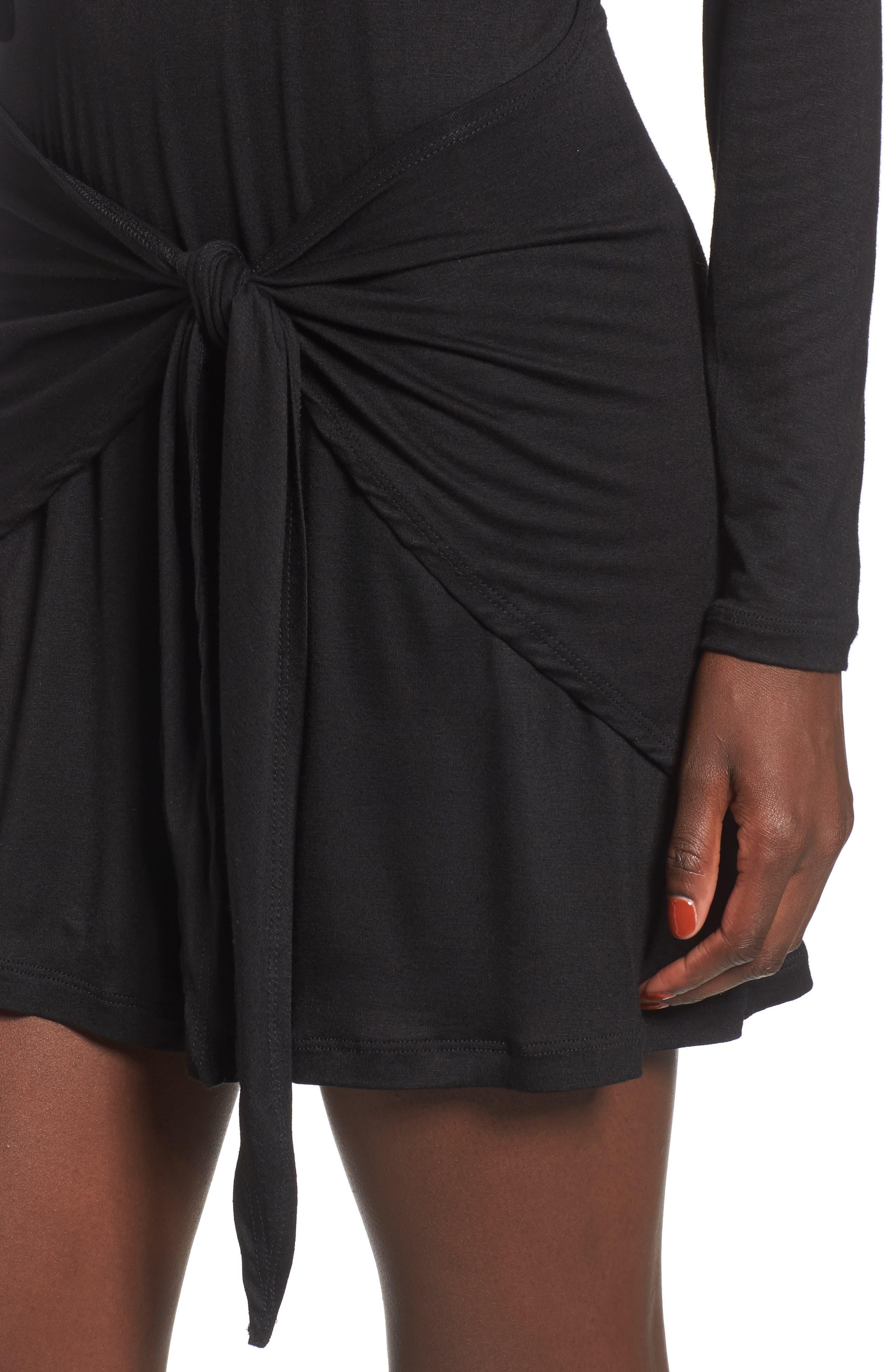 Tie Waist Dress,                             Alternate thumbnail 7, color,