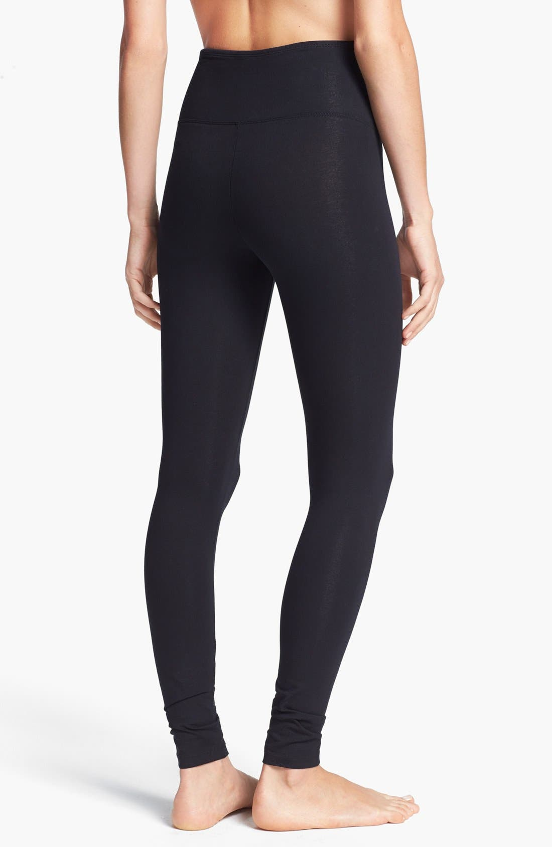 'Rachel' High Waist Leggings,                             Alternate thumbnail 3, color,                             BLACK