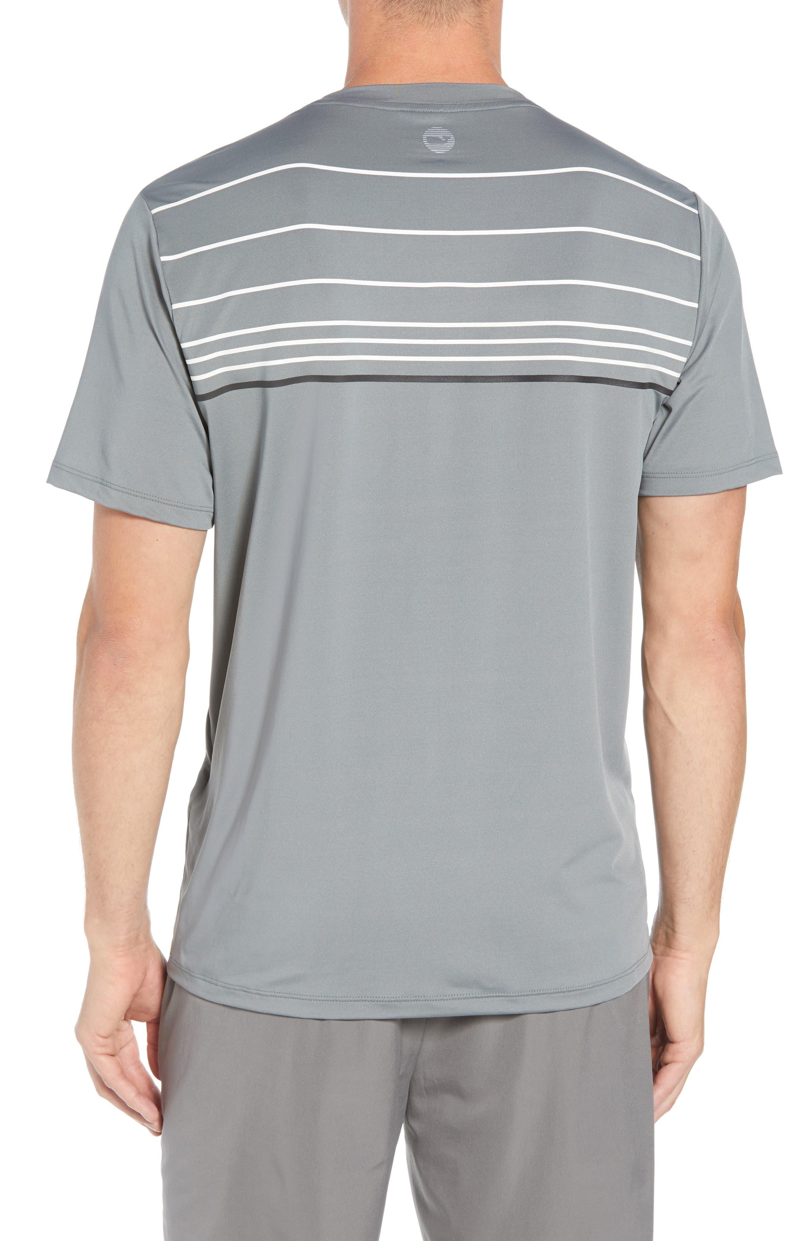 Stripe Performance T-Shirt,                             Alternate thumbnail 2, color,                             GRAPHITE