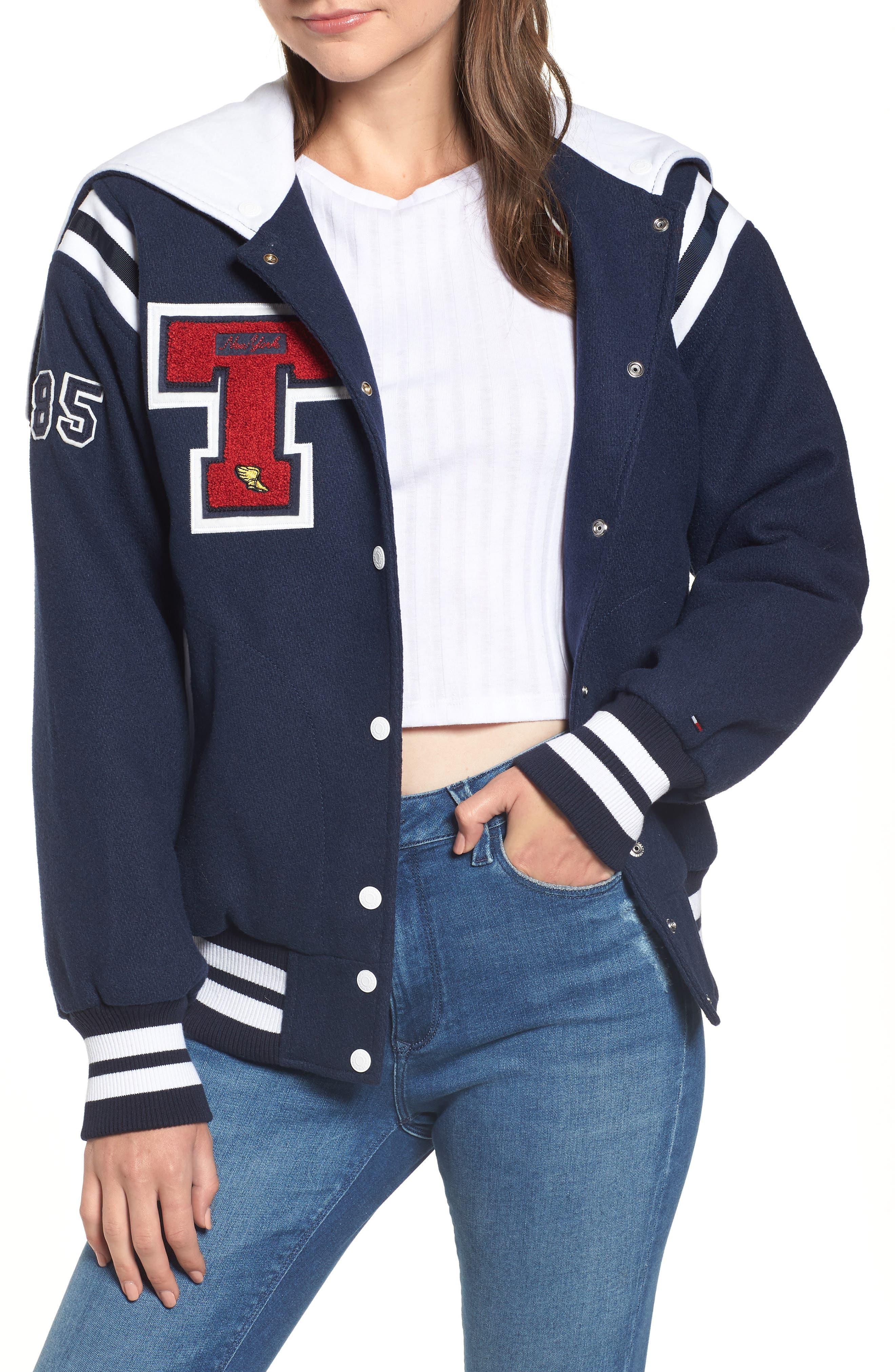 New York Varsity Bomber Jacket,                         Main,                         color, 400