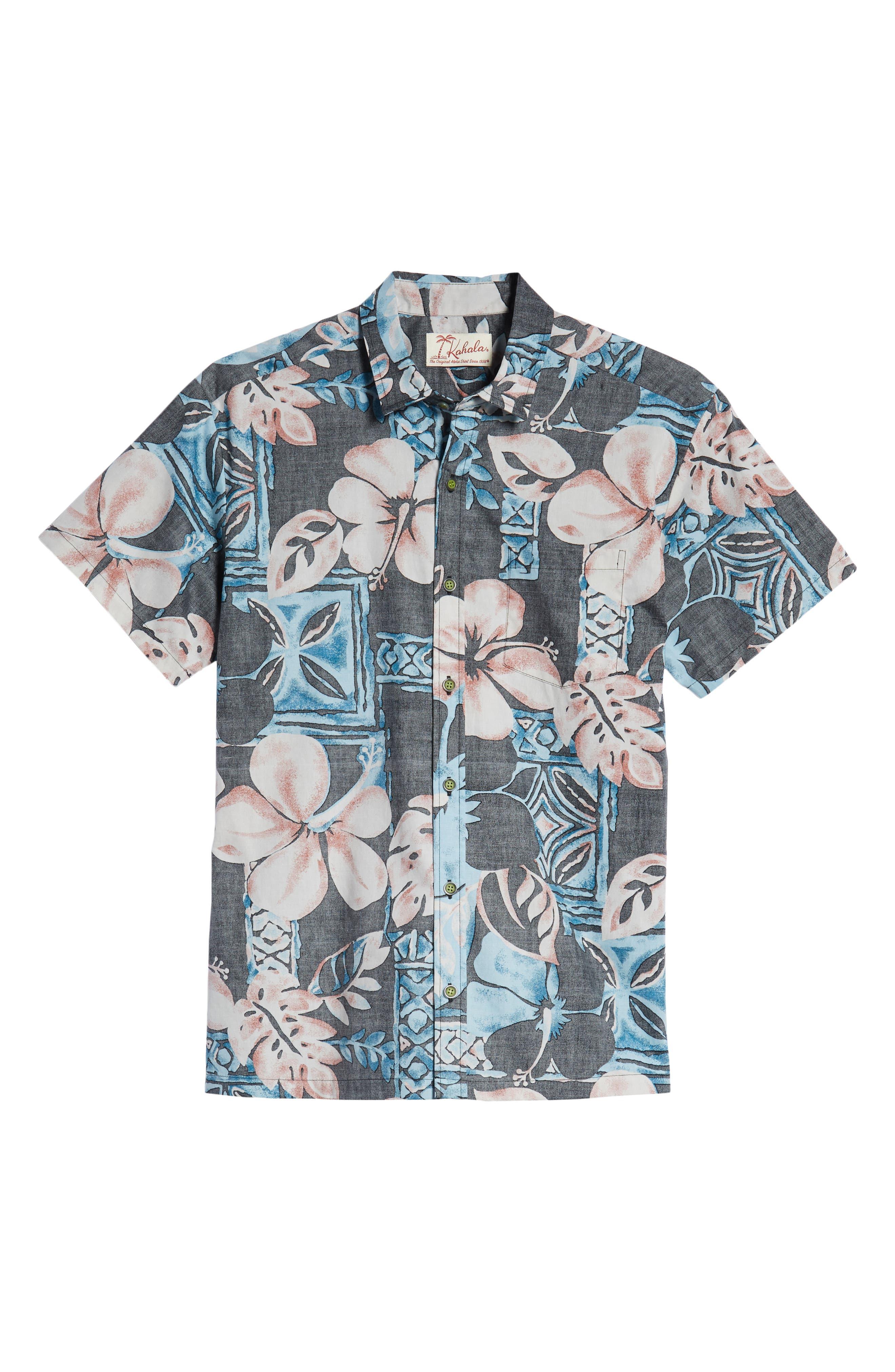 Ahiahi Classic Fit Sport Shirt,                             Alternate thumbnail 5, color,                             BLACK