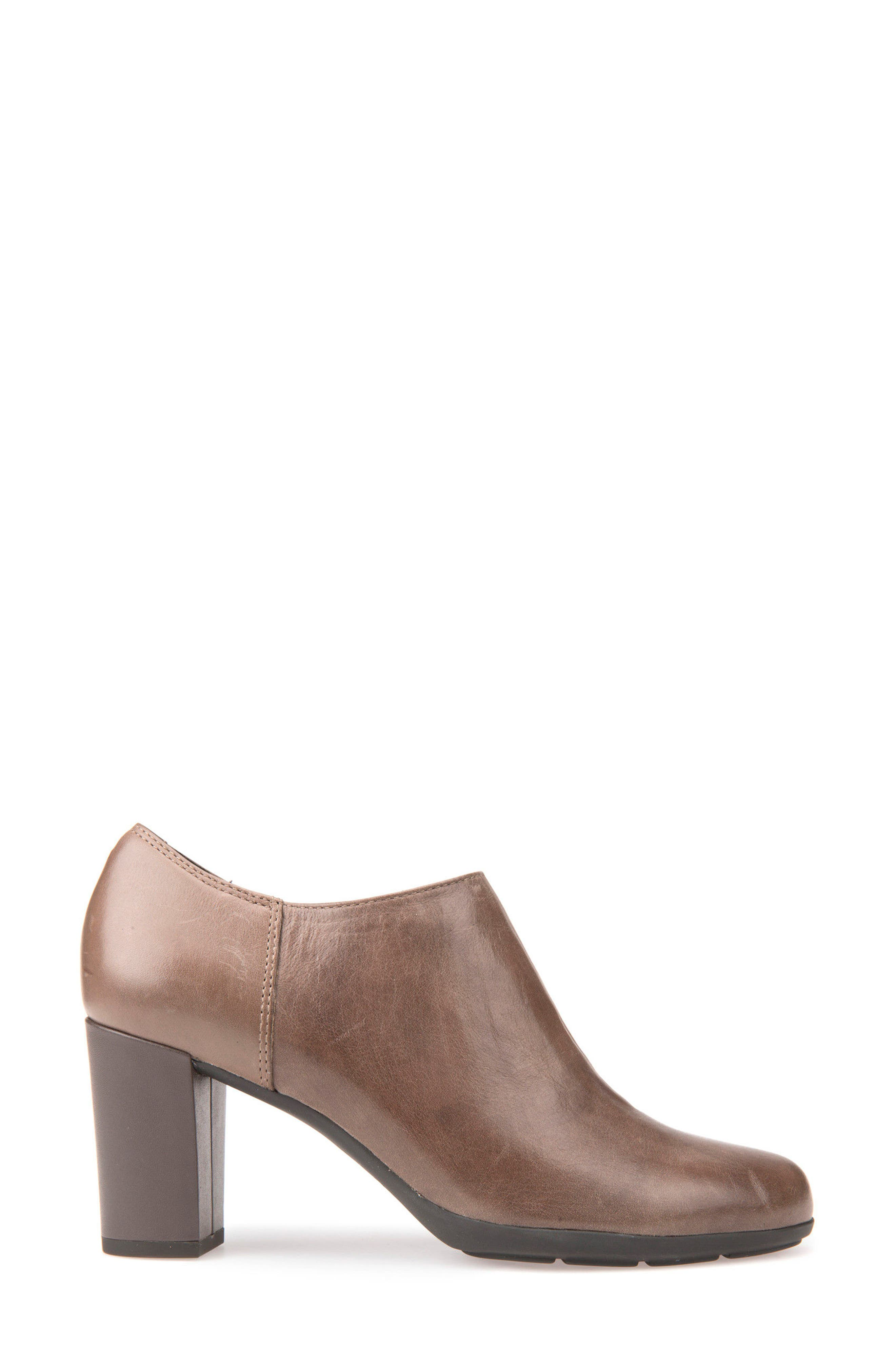 Annya Bootie,                             Alternate thumbnail 3, color,                             TAUPE LEATHER