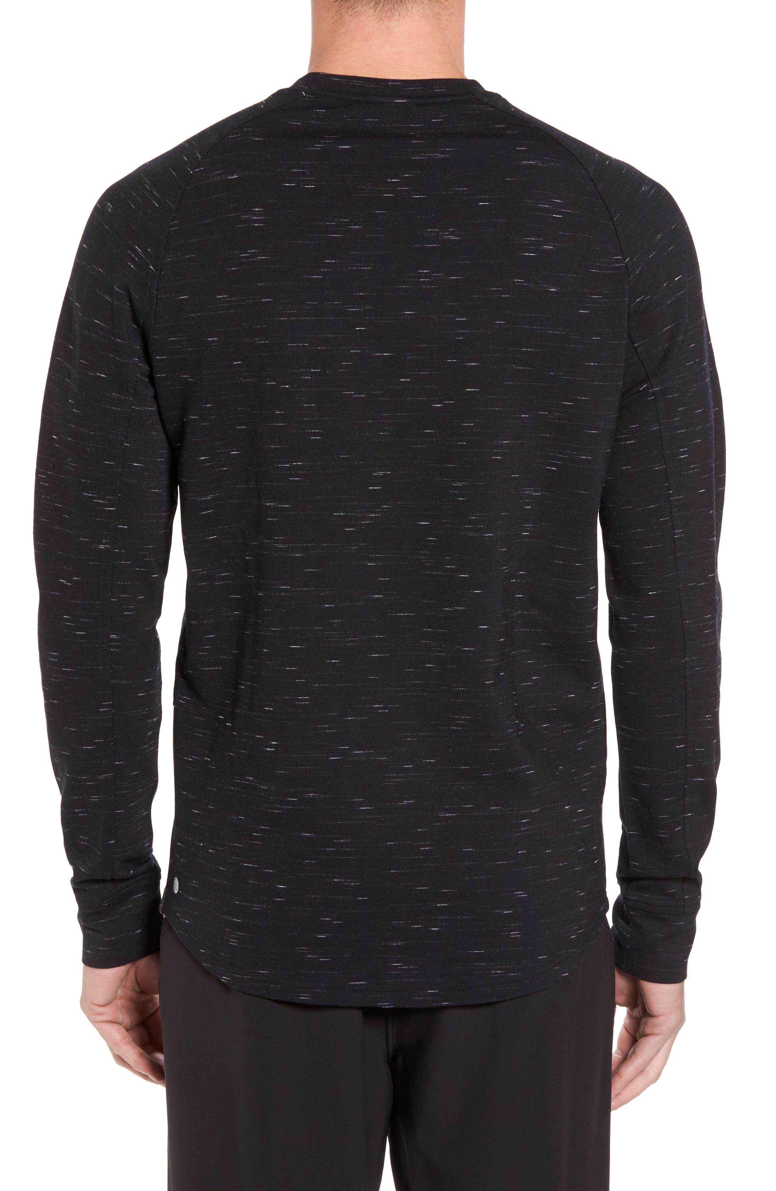 Fleece Crewneck Sweatshirt,                             Alternate thumbnail 3, color,
