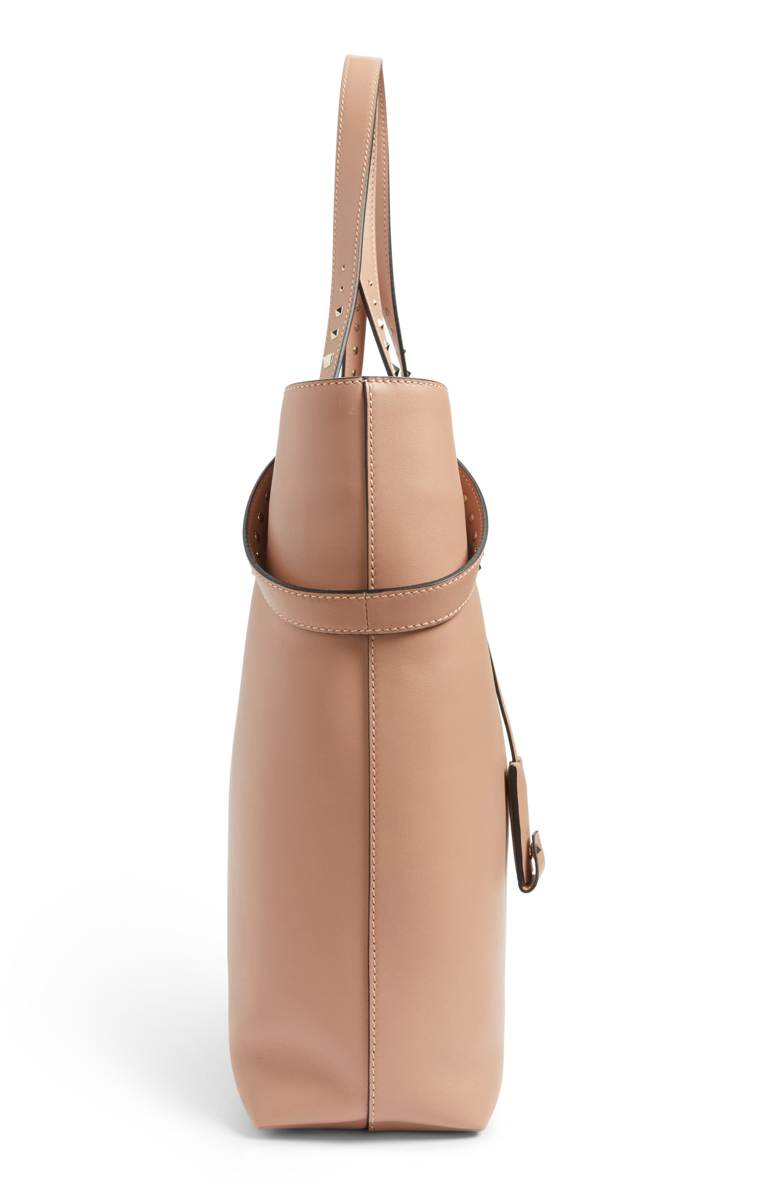 Lovestud Leather Tote,                             Alternate thumbnail 14, color,