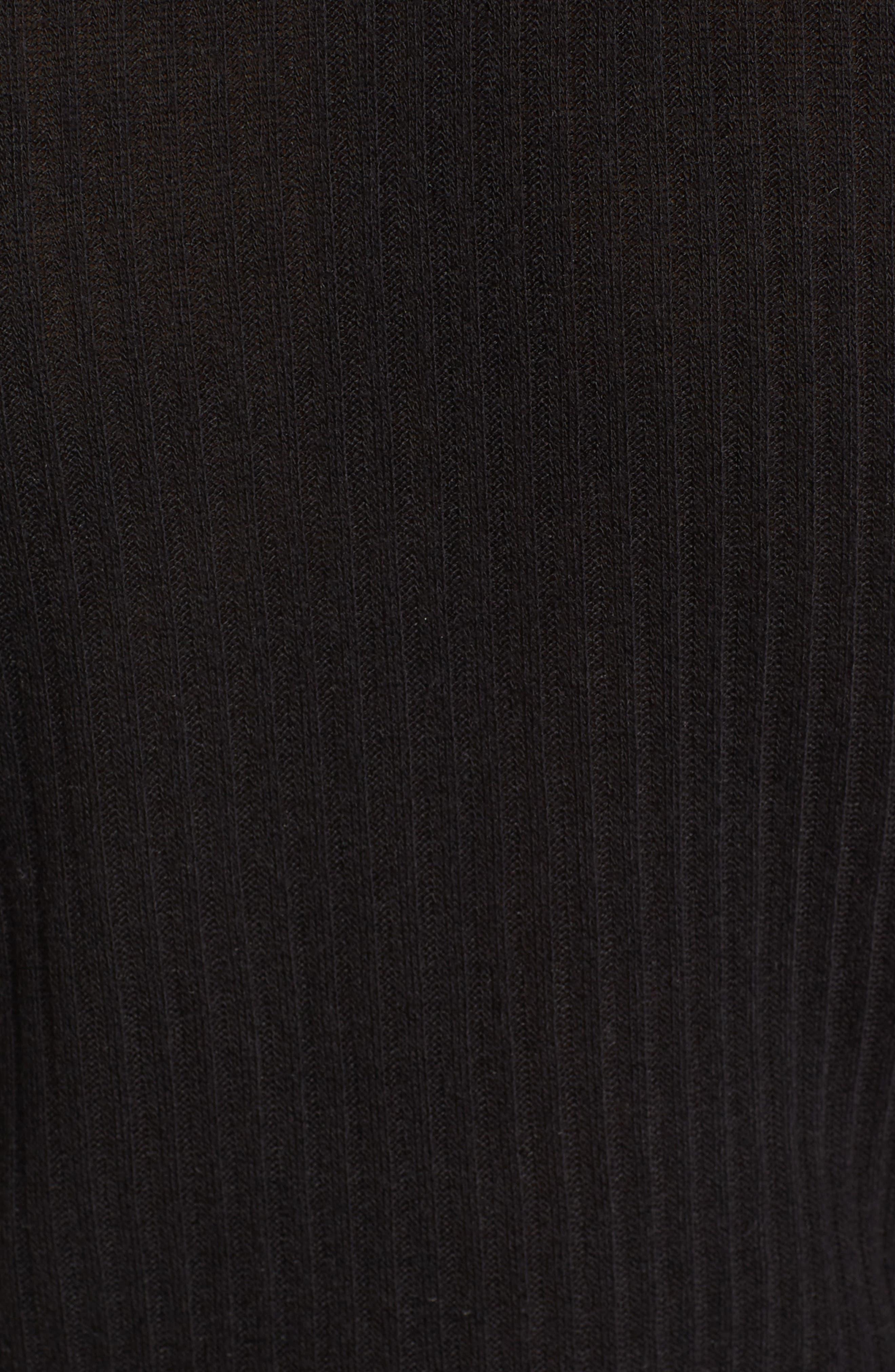 Rib Knit Henley,                             Alternate thumbnail 6, color,                             001
