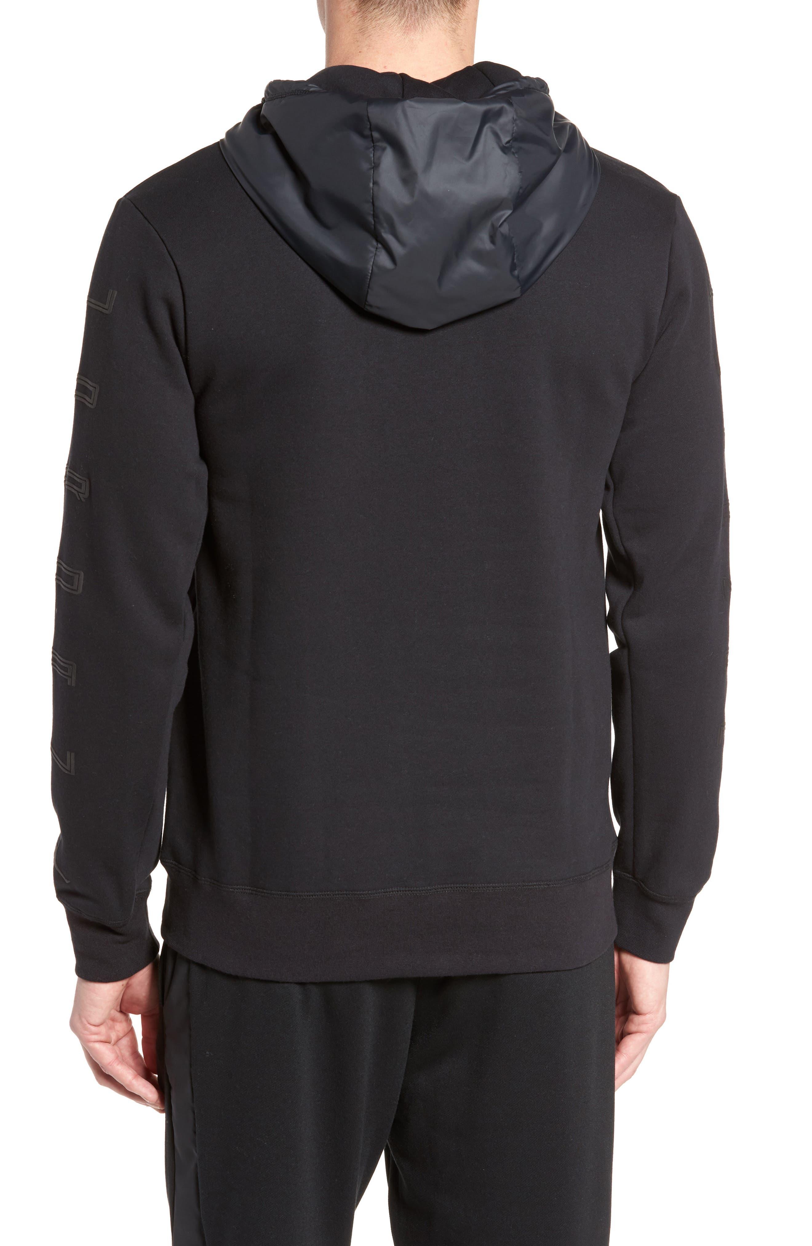 Sportswear AJ11 Hybrid Hoodie,                             Alternate thumbnail 2, color,                             010