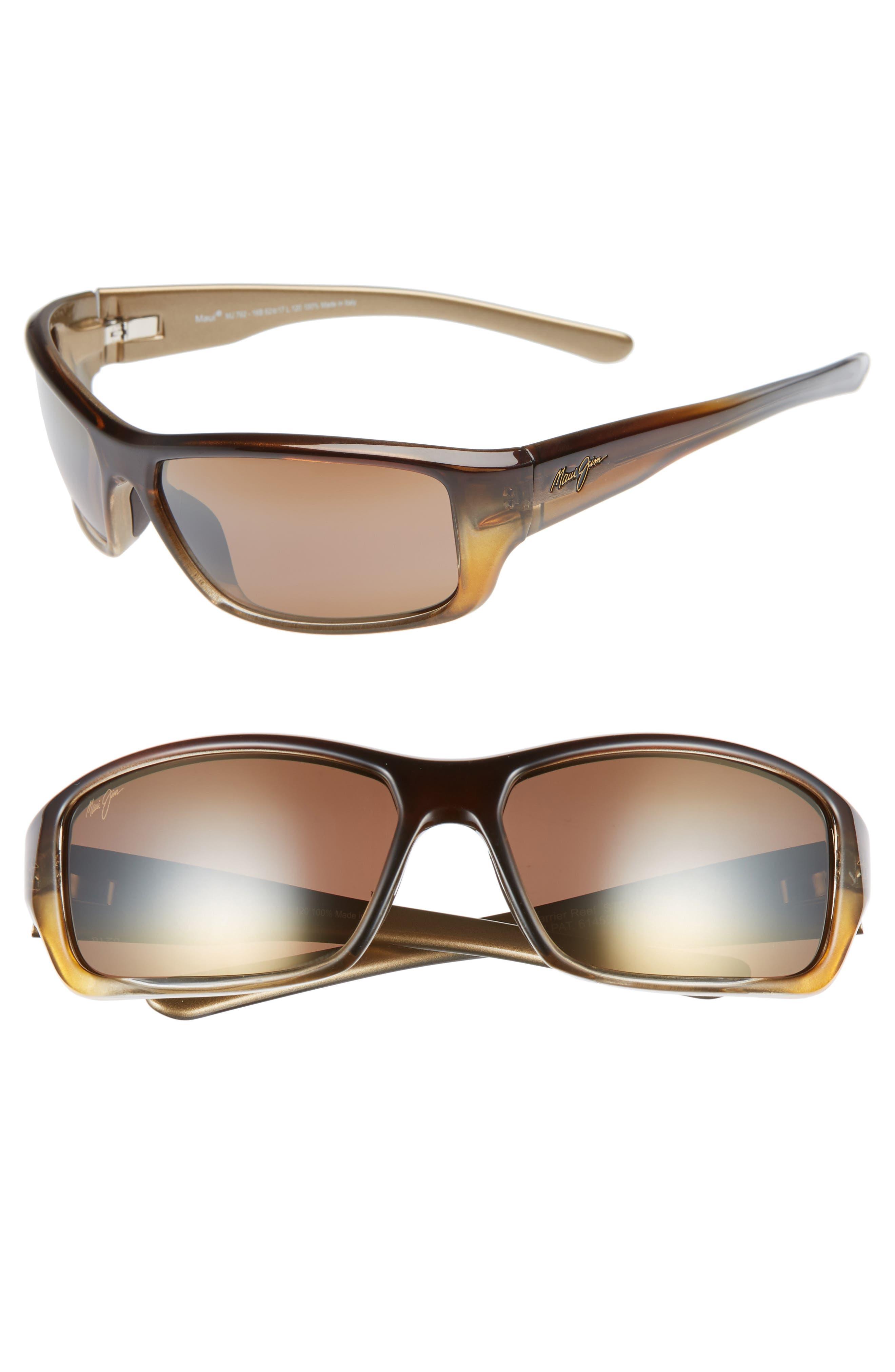 Maui Jim Barrier Reef 62Mm Polarizedplus2 Sunglasses - Brown Gold/ Bronze