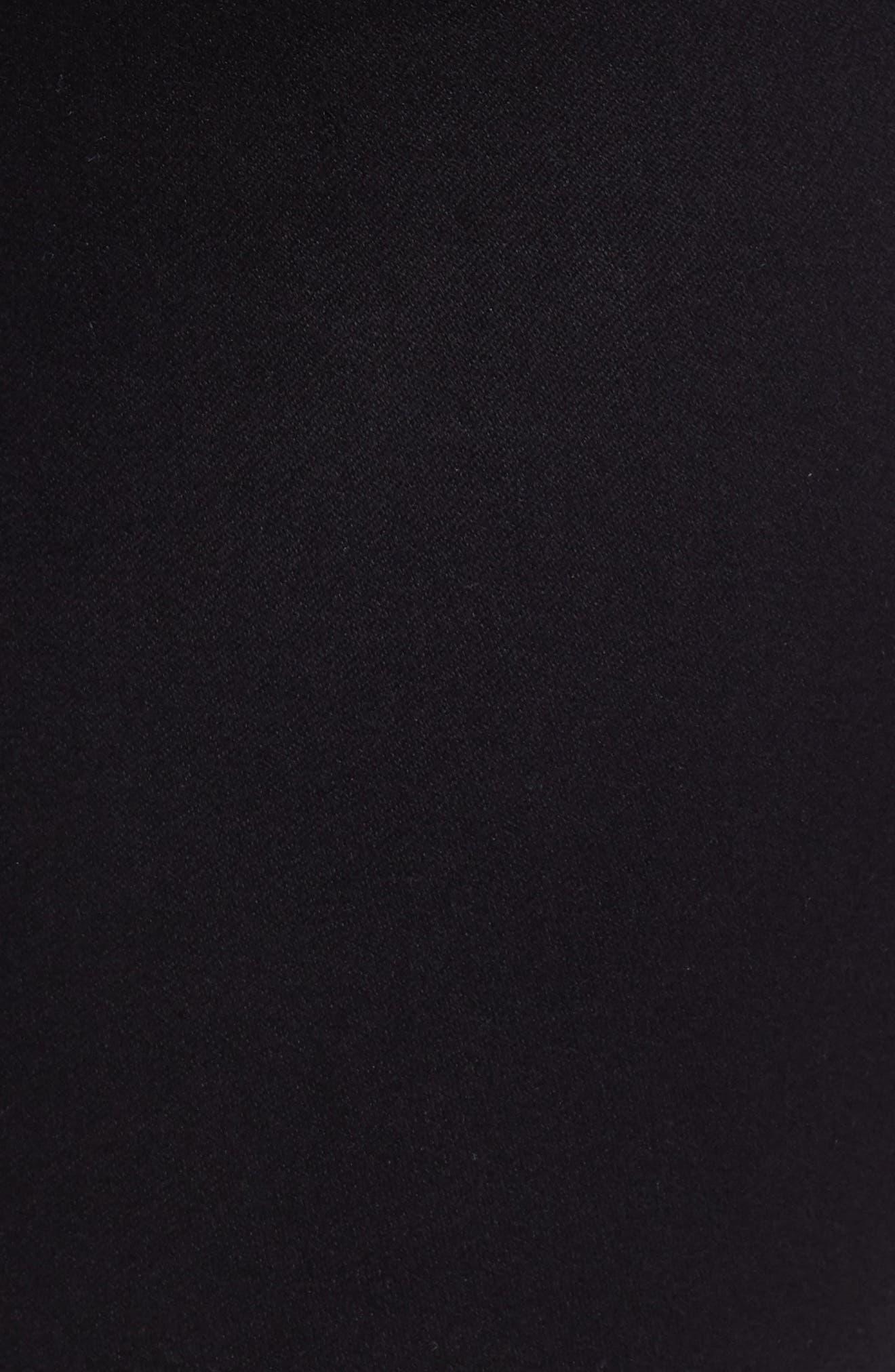 Butter Ankle Super Skinny Maternity Jeans,                             Alternate thumbnail 5, color,                             BLACK