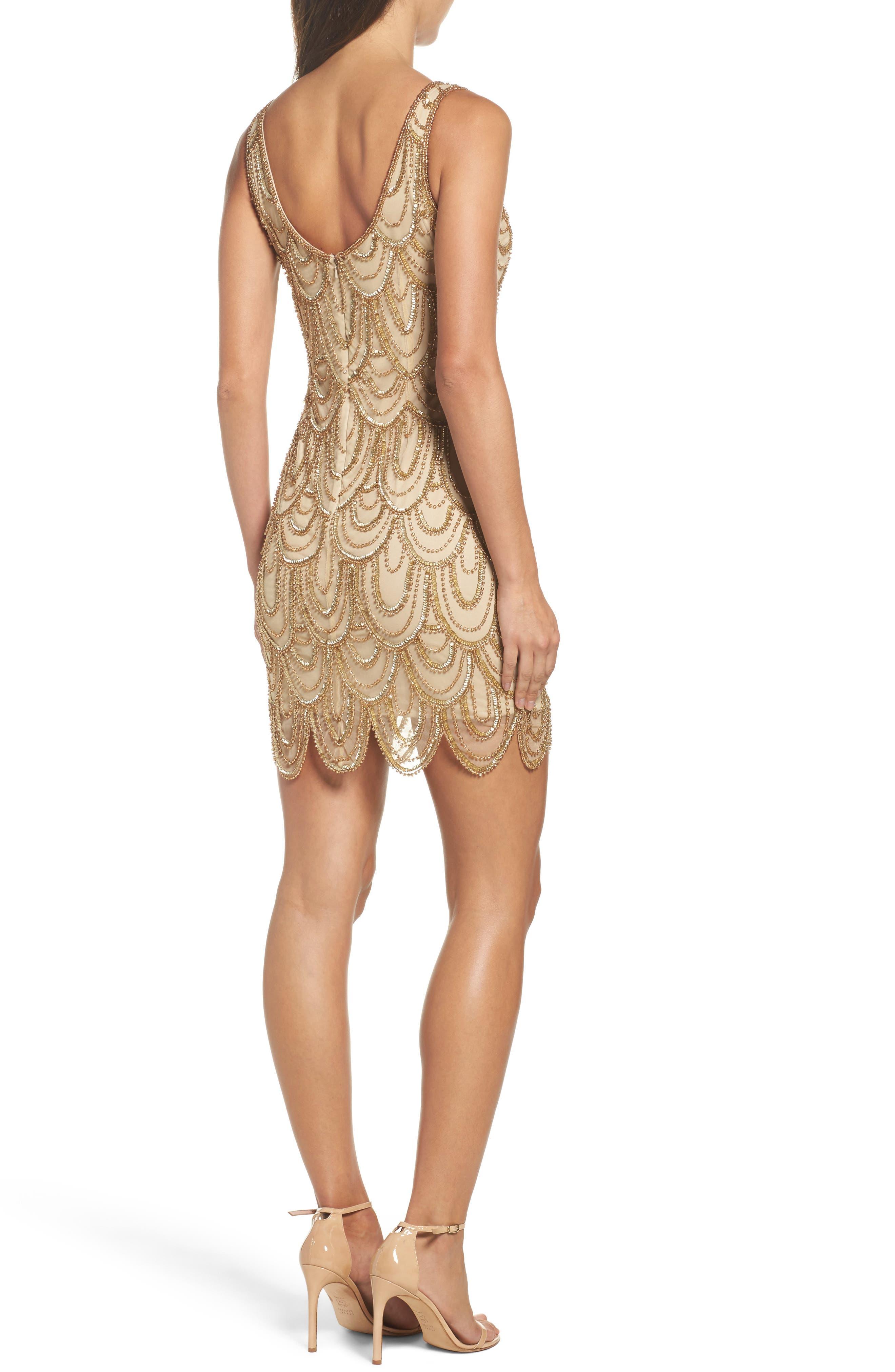 Embellished Mesh Sheath Dress,                             Alternate thumbnail 46, color,