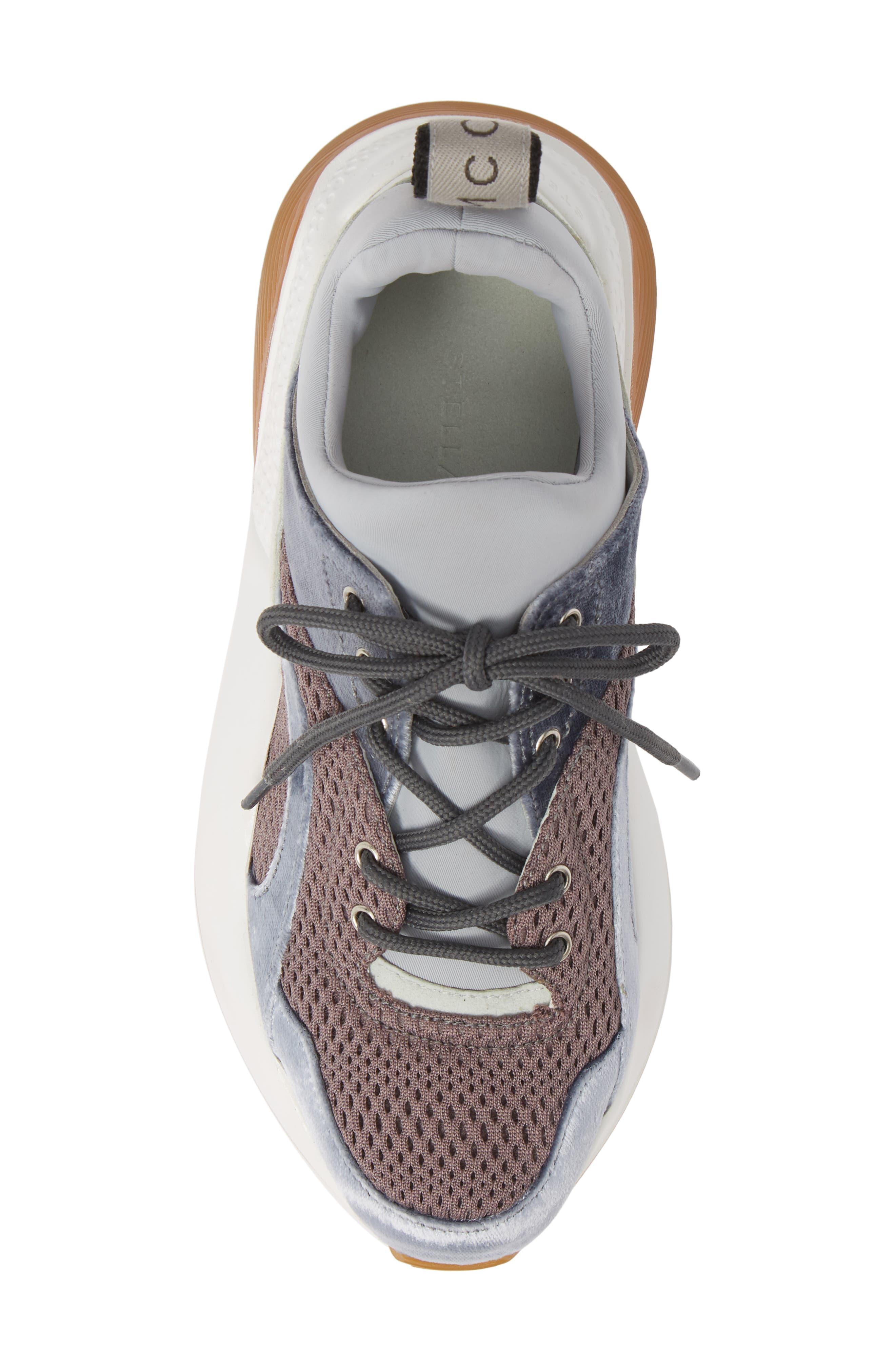 Eclypse Lace-Up Sneaker,                             Alternate thumbnail 5, color,                             GREY/ SILVER/ WHITE
