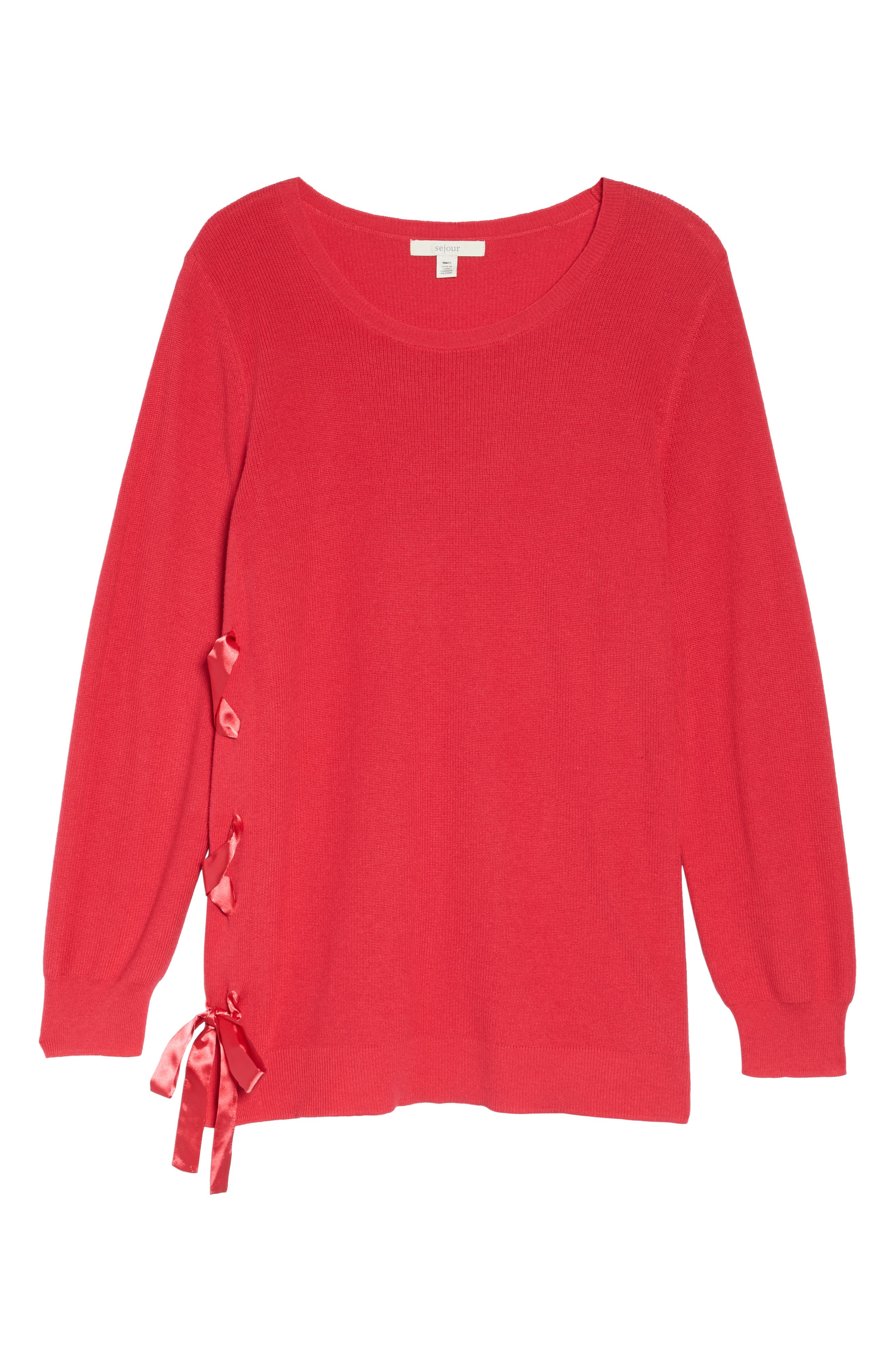 Lace-Up Pullover,                             Alternate thumbnail 18, color,