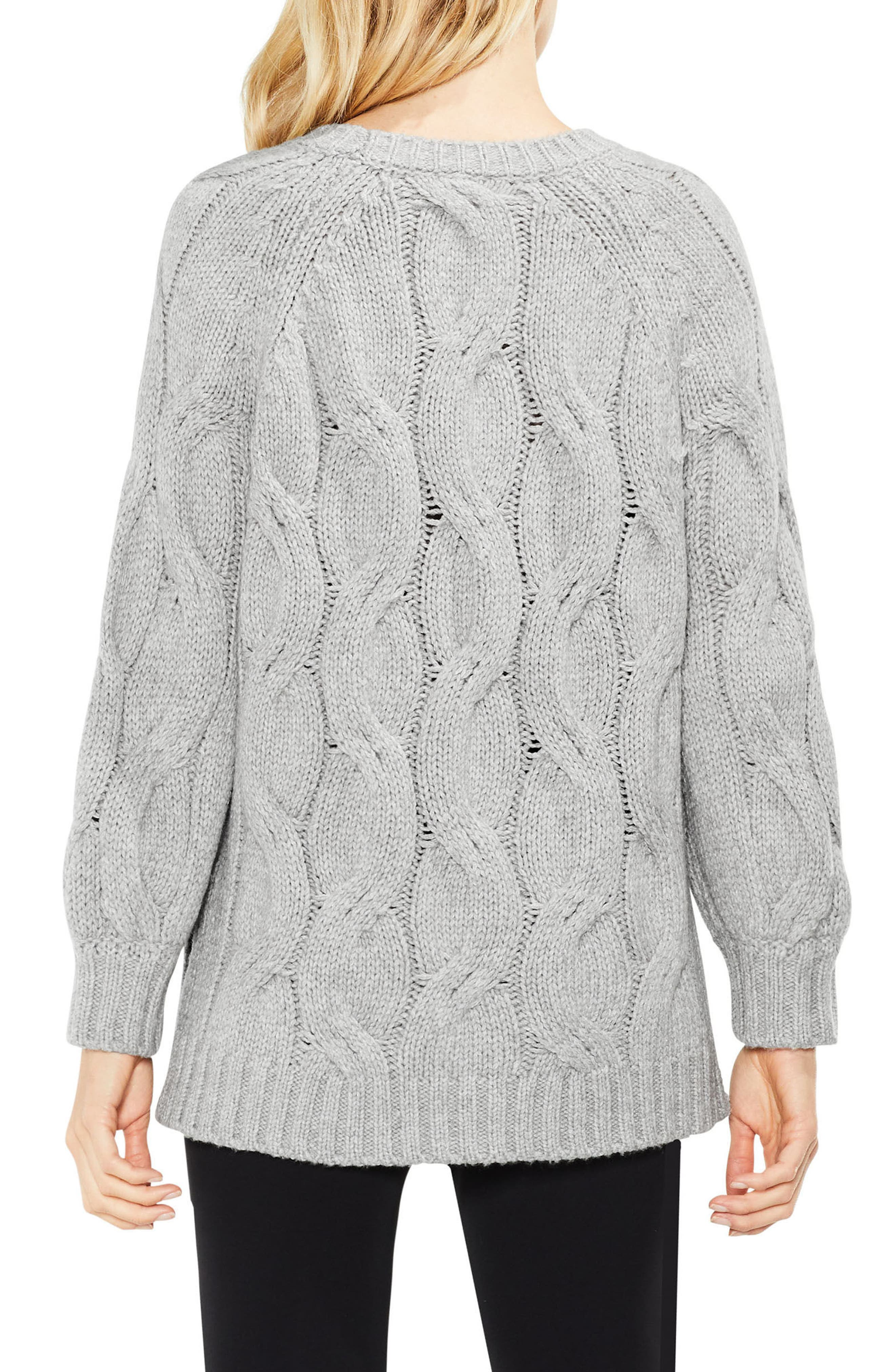 Long Sleeve Chunky Cable Sweater,                             Alternate thumbnail 2, color,                             078