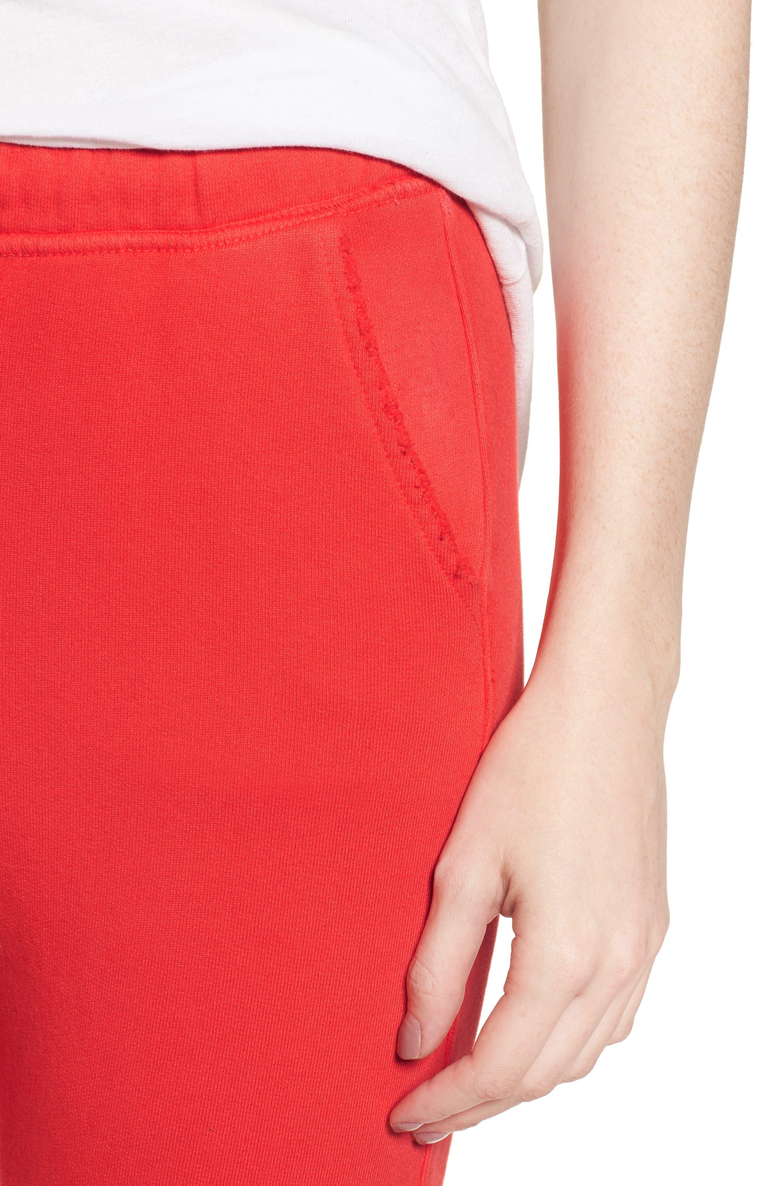 Raw Hem Crop Sweatpants,                             Alternate thumbnail 4, color,                             626
