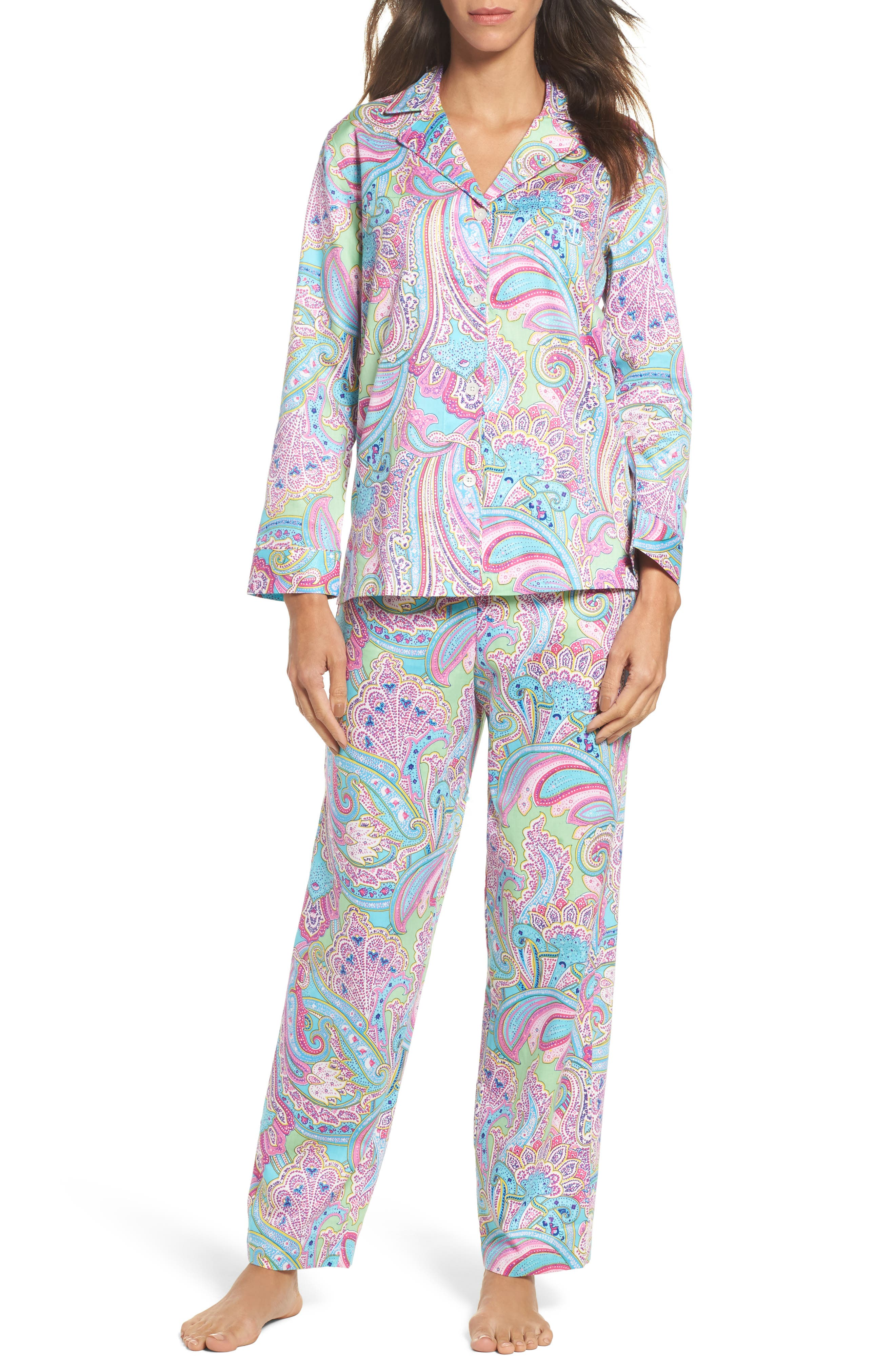 Notch Collar Pajamas,                             Main thumbnail 1, color,