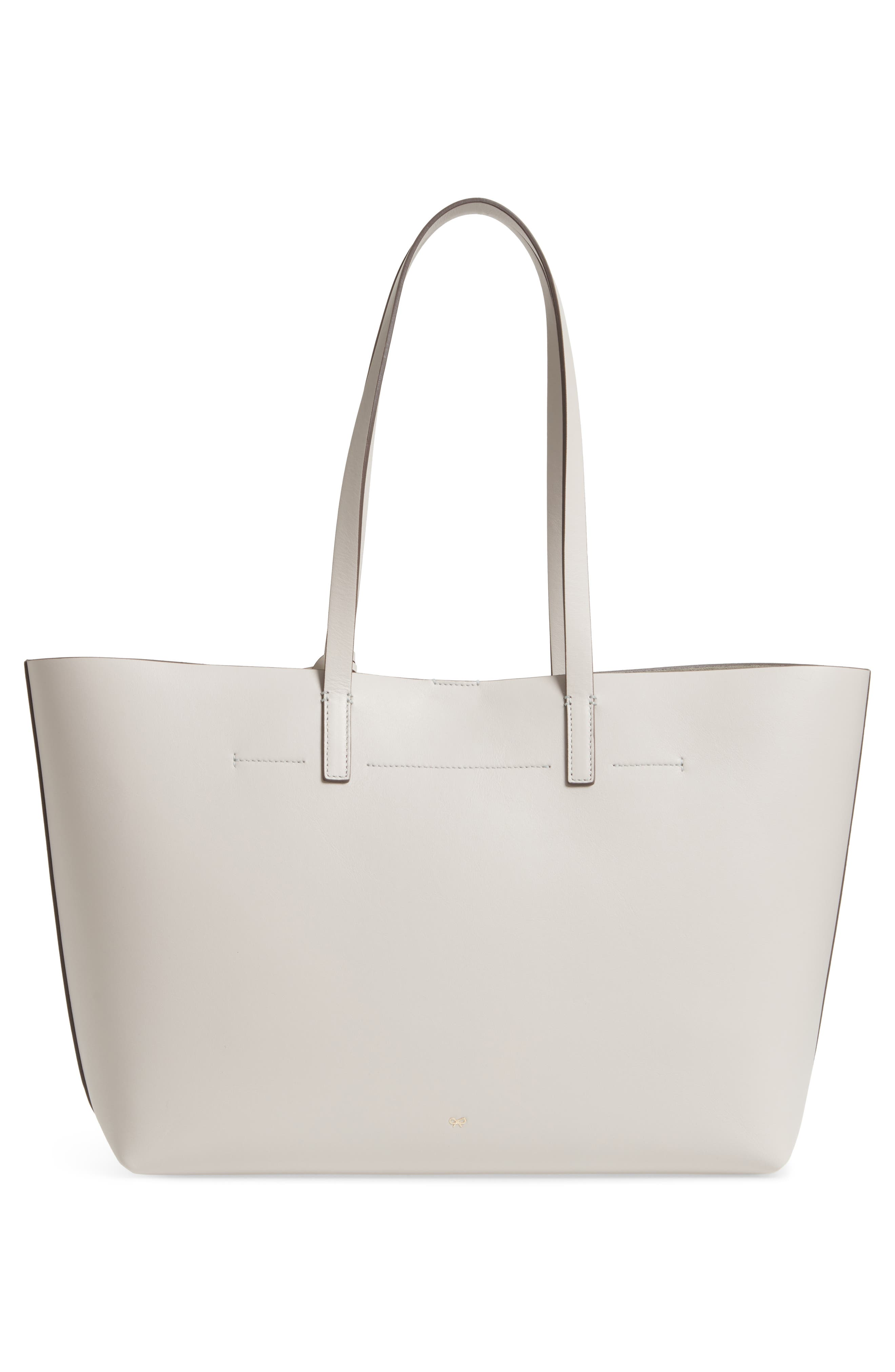 Ebury Smiley Leather Tote,                             Alternate thumbnail 3, color,                             STEAM