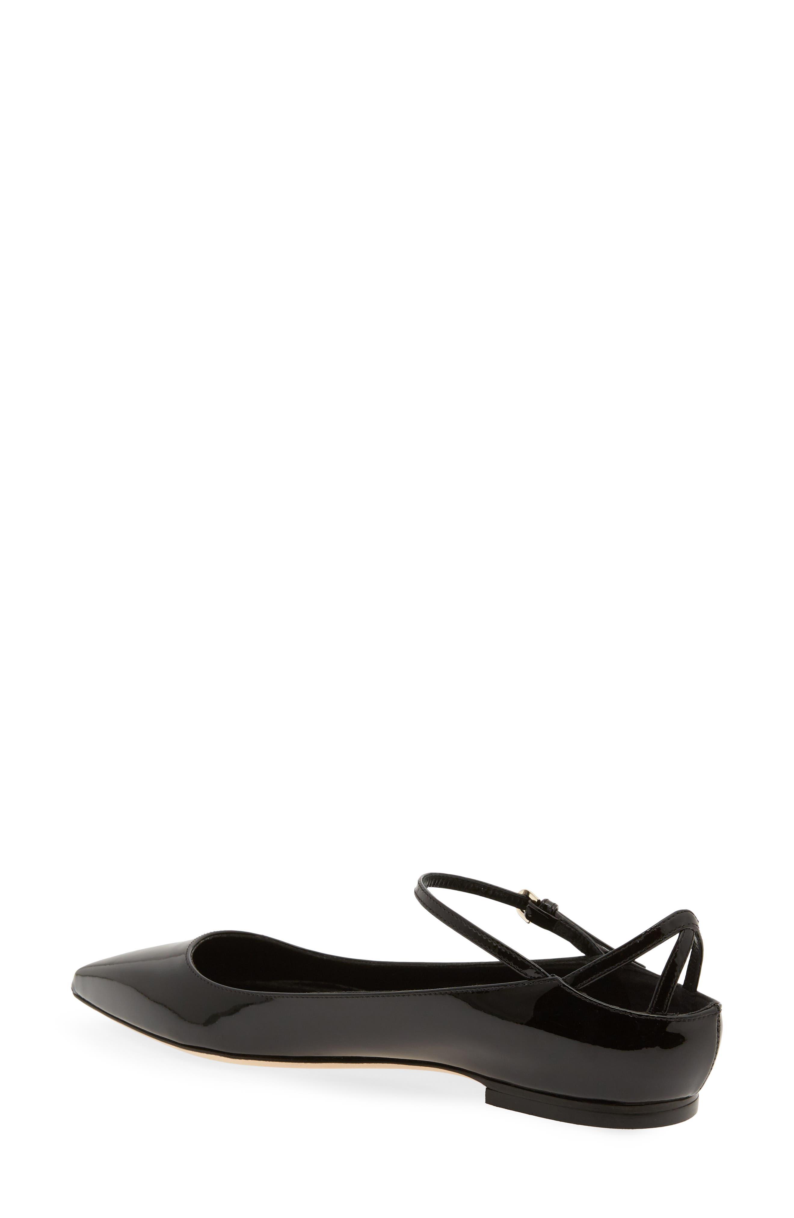 Astrid Ankle Strap Flat,                             Alternate thumbnail 2, color,                             BLACK PATENT
